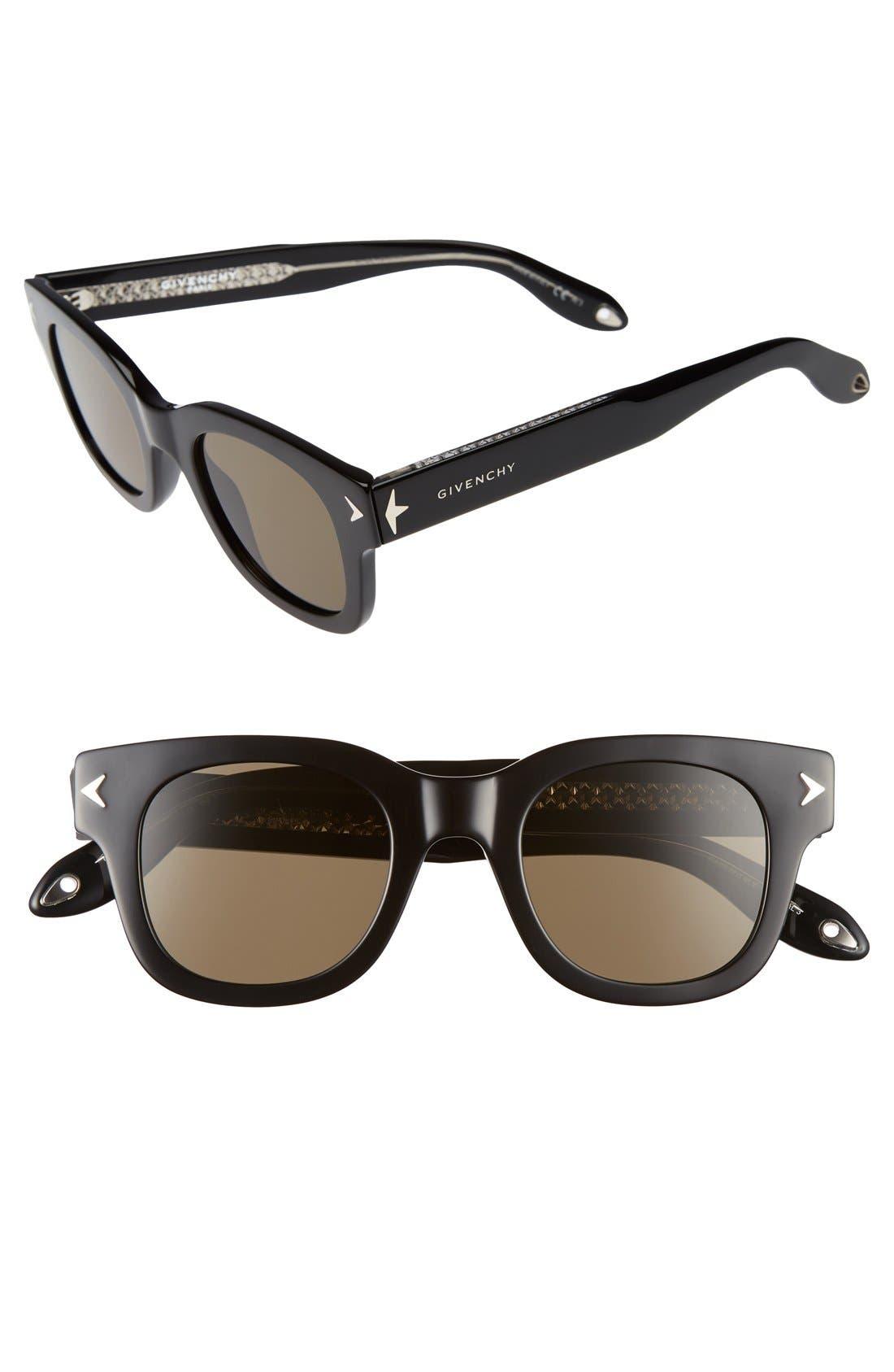 47mm Gradient Sunglasses,                             Main thumbnail 1, color,                             002