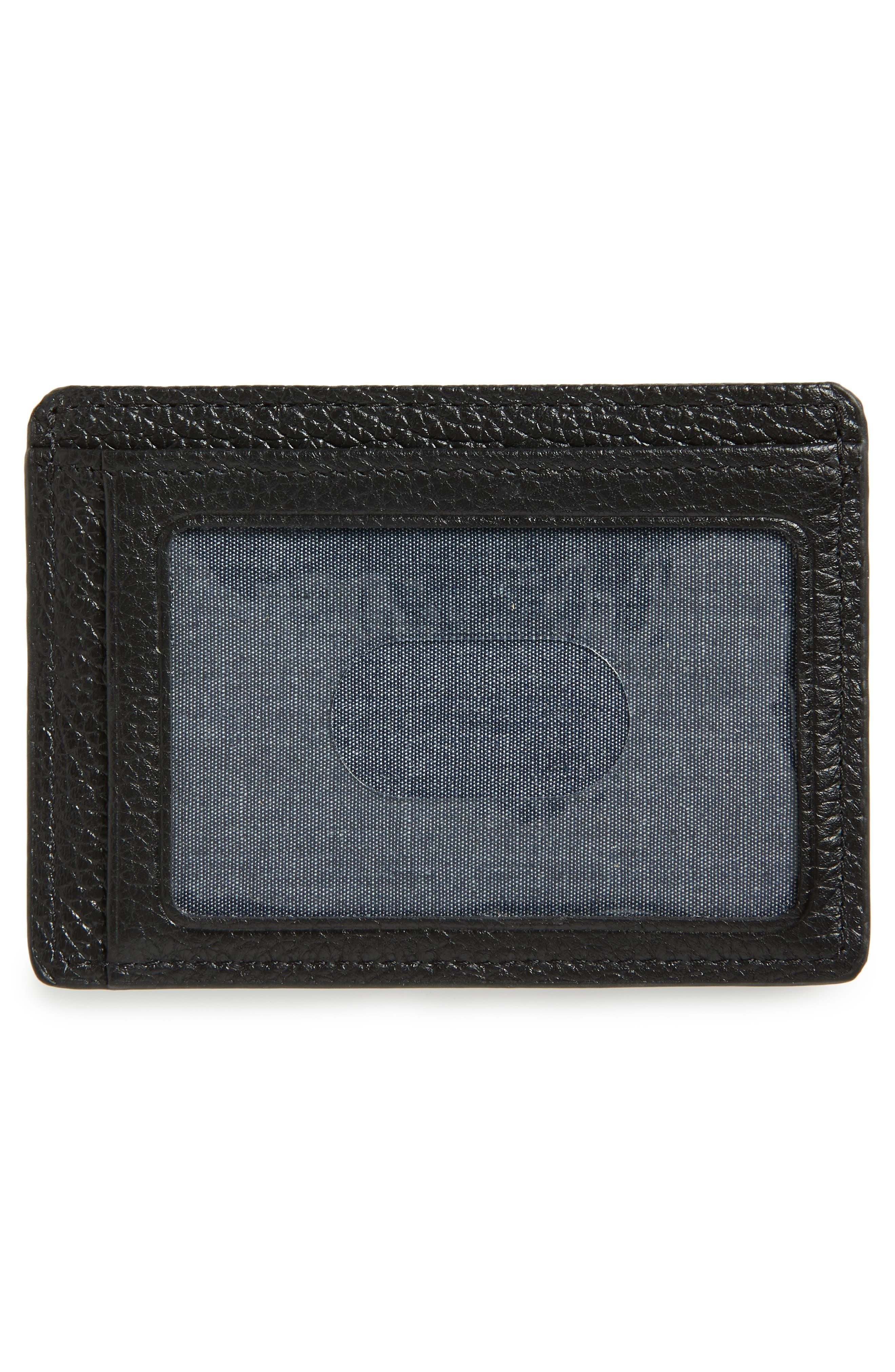 Midland RFID Leather Card Case,                             Alternate thumbnail 2, color,                             BLACK