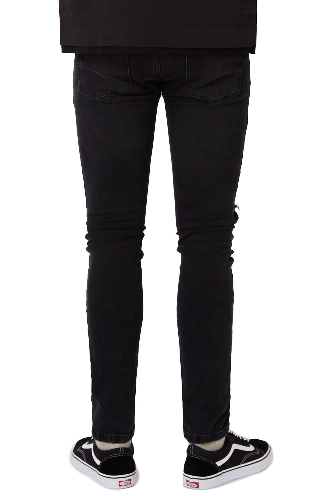 Ripped Skinny Fit Jeans,                             Alternate thumbnail 2, color,                             001