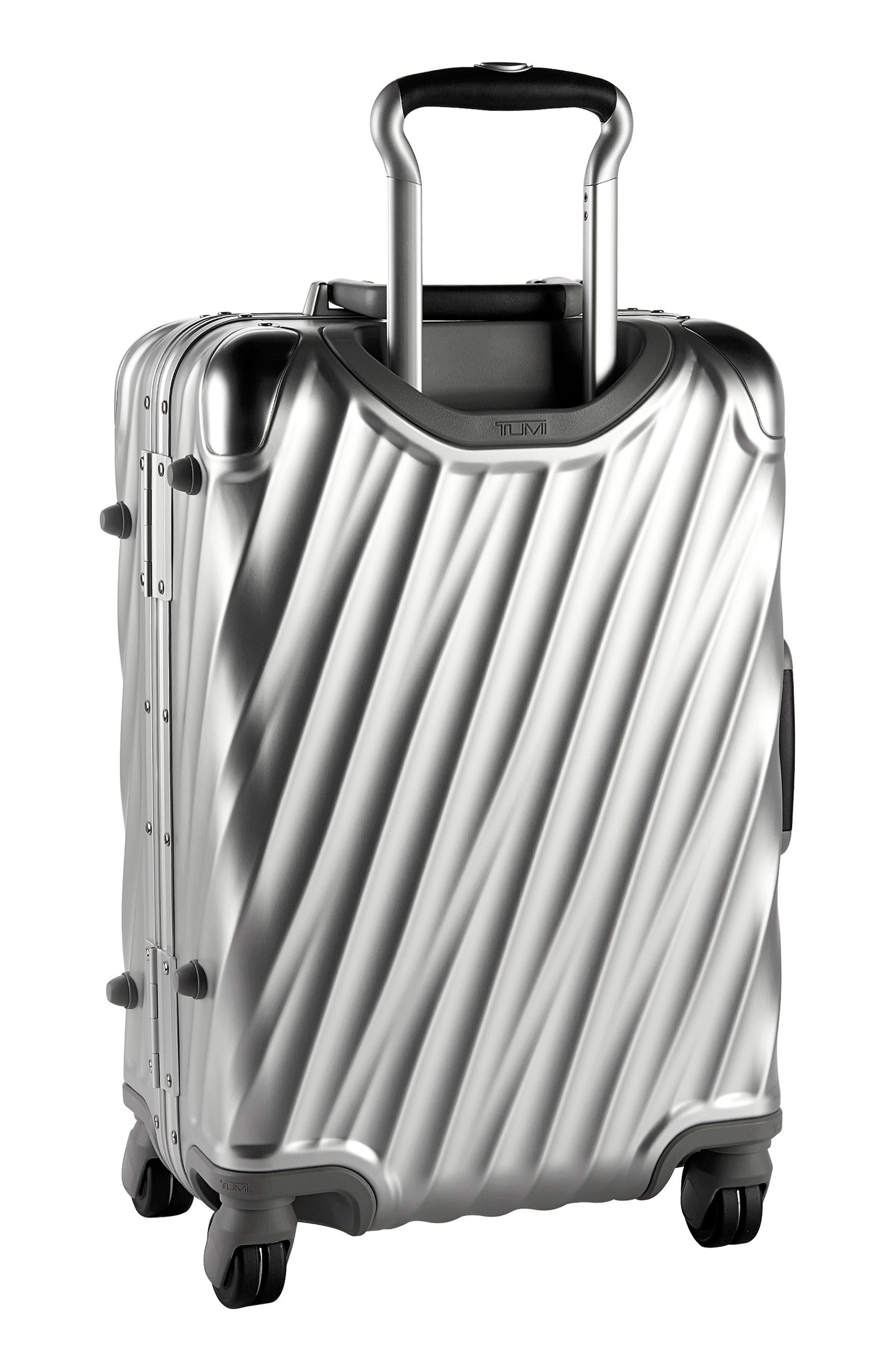 19 Degree 22-Inch Collection International Wheeled Aluminum Carry-On,                             Alternate thumbnail 4, color,                             SILVER