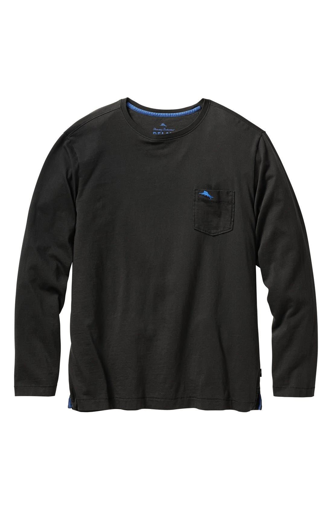 Bali Skyline Long Sleeve Pima Cotton T-Shirt,                             Main thumbnail 1, color,                             001