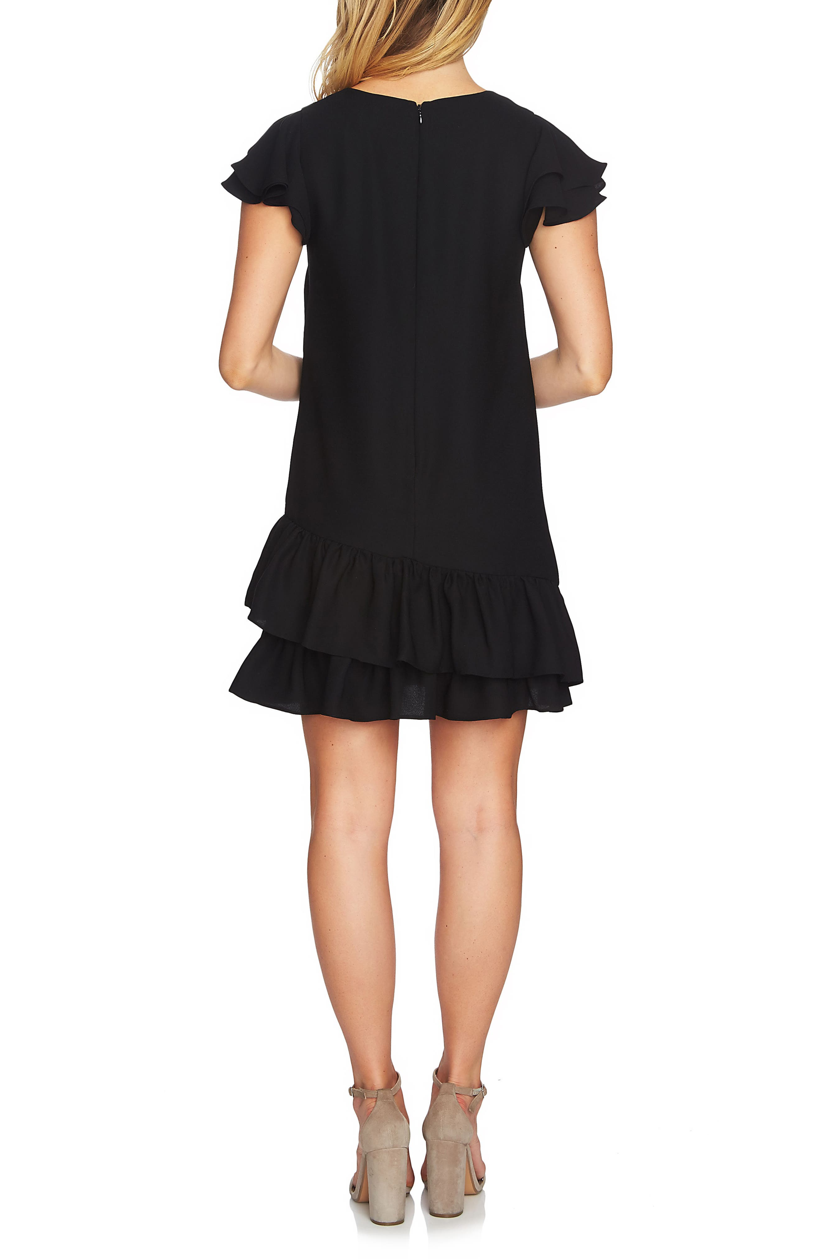 Claire Tiered Ruffle Dress,                             Alternate thumbnail 3, color,