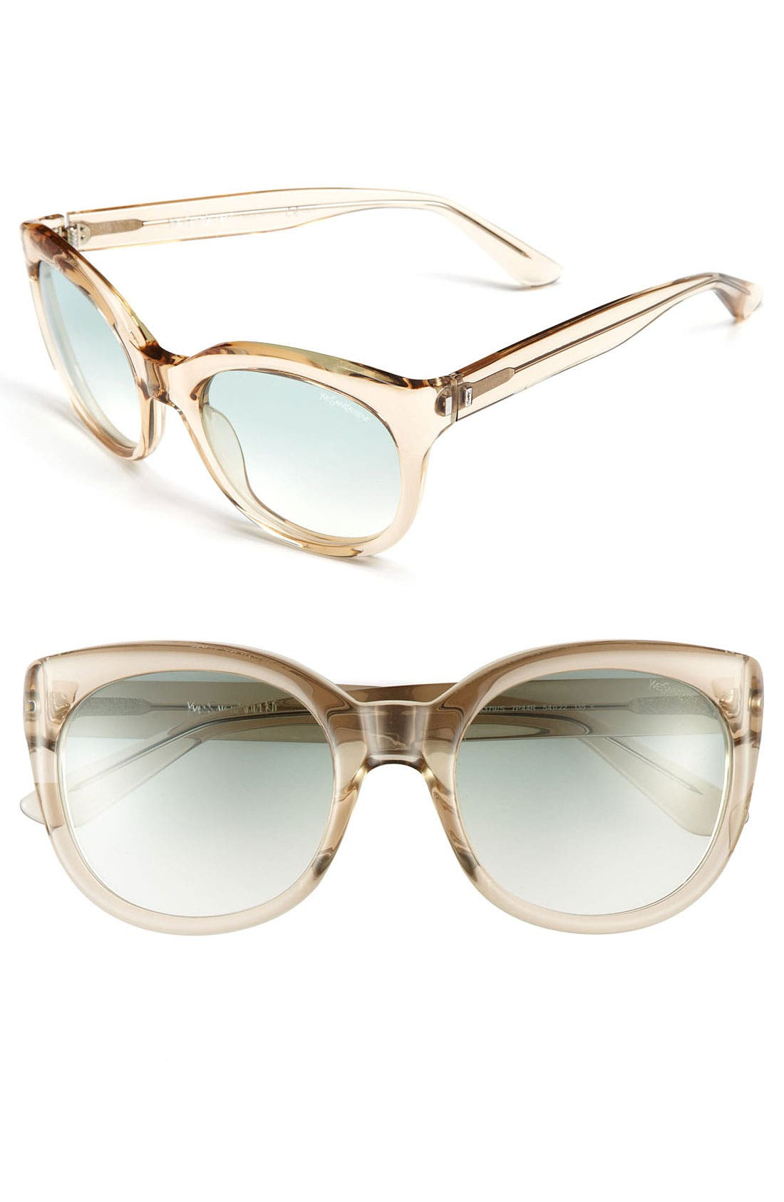 Saint Laurent Cat's Eye Sunglasses,                             Main thumbnail 3, color,