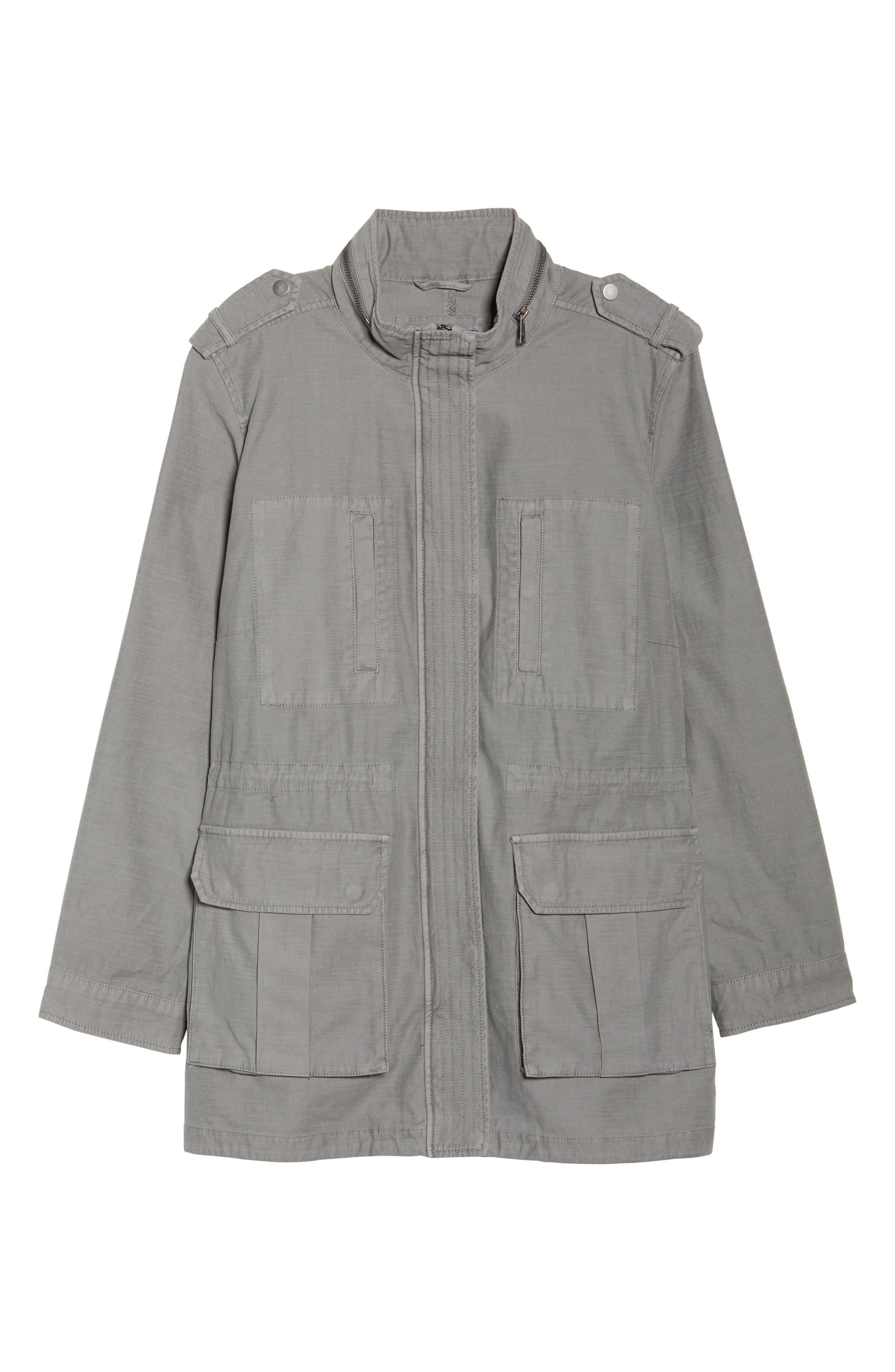 Cotton Fishtail Field Jacket,                             Alternate thumbnail 5, color,                             030