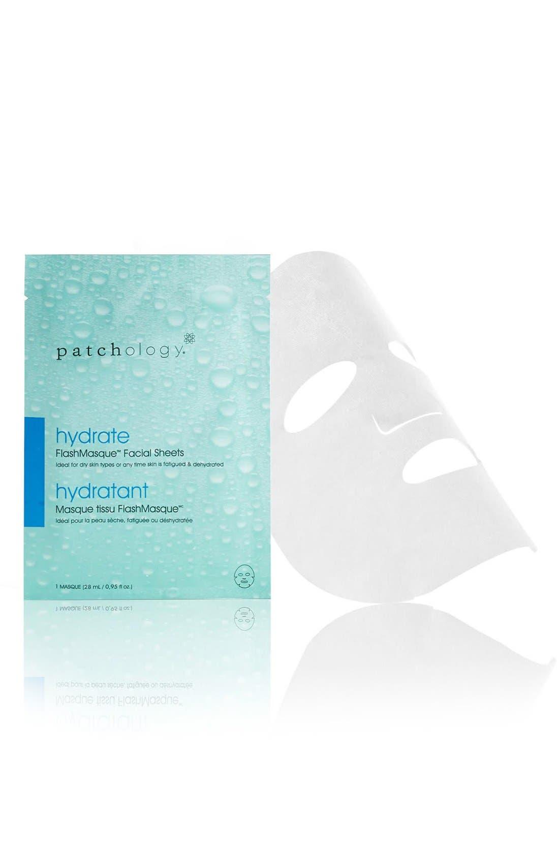 FlashMasque<sup>®</sup> Hydrate 5-Minute Facial Sheet Mask,                             Main thumbnail 1, color,                             NO COLOR