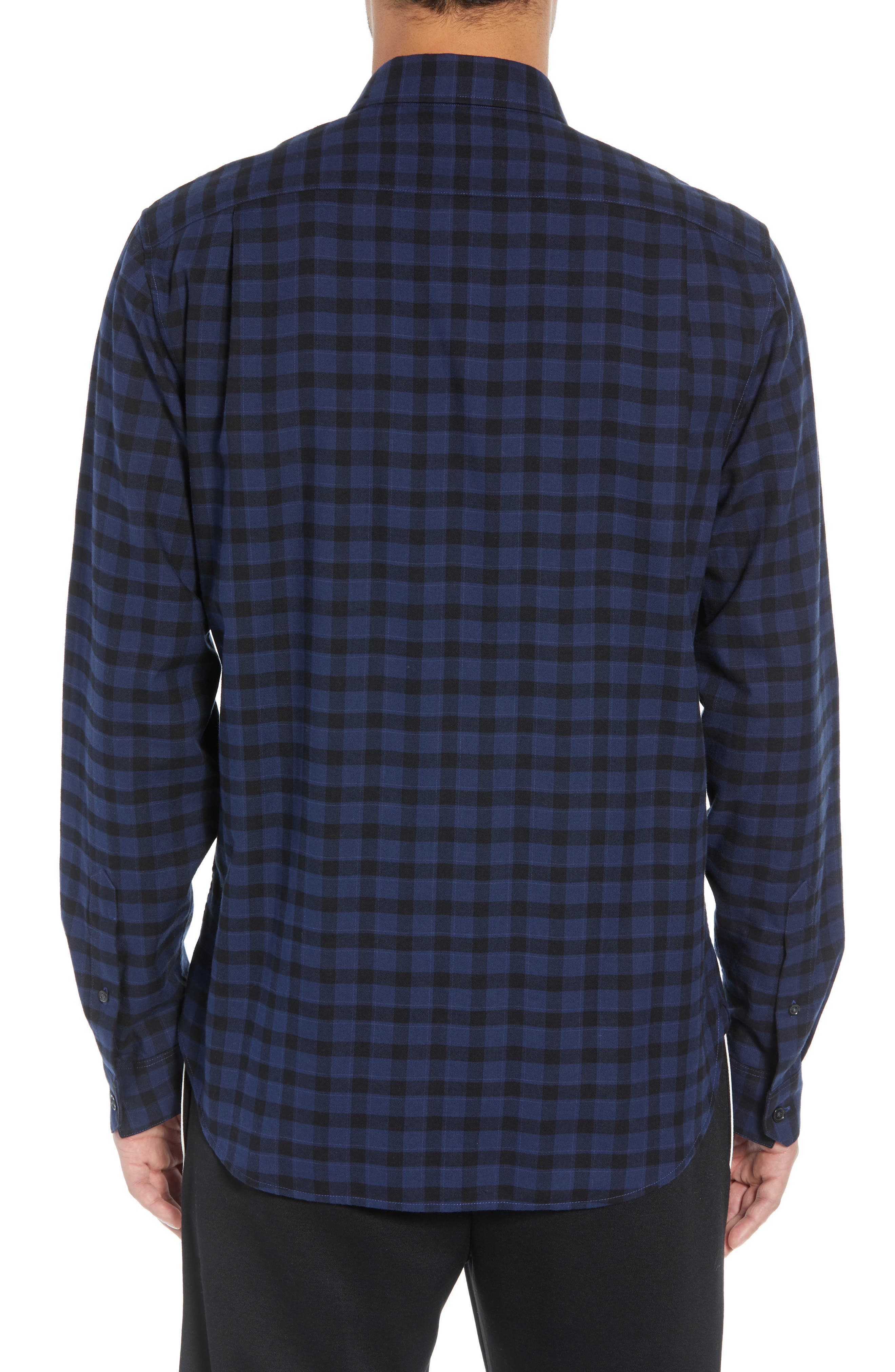 Classic Fit Gingham Sport Shirt,                             Alternate thumbnail 3, color,                             464