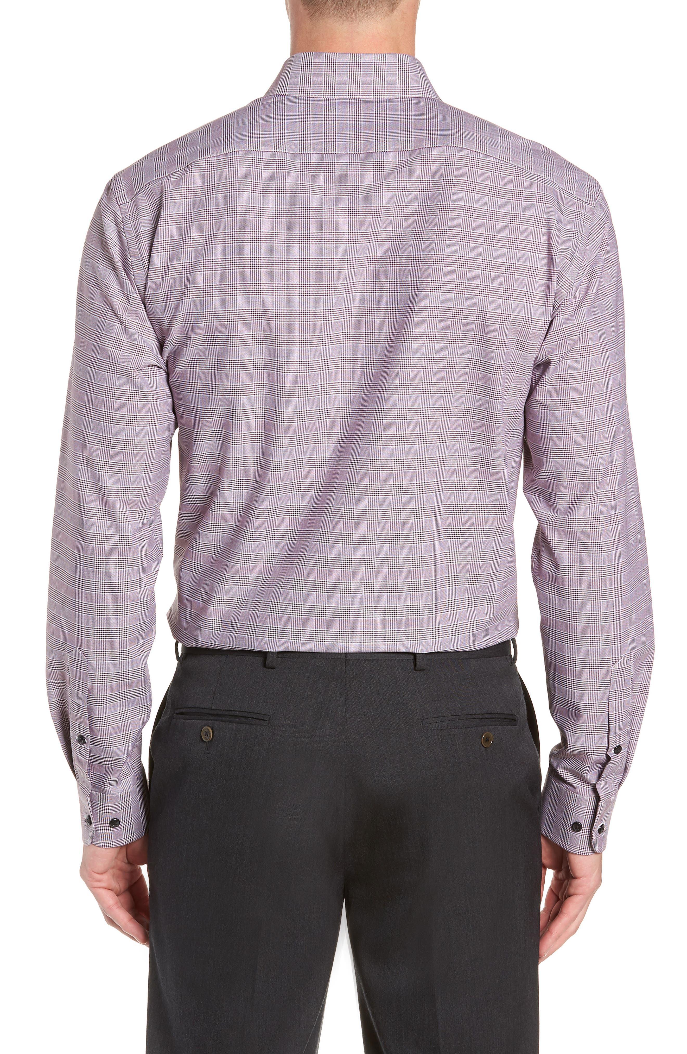 Tech-Smart Trim Fit Stretch Plaid Dress Shirt,                             Alternate thumbnail 11, color,