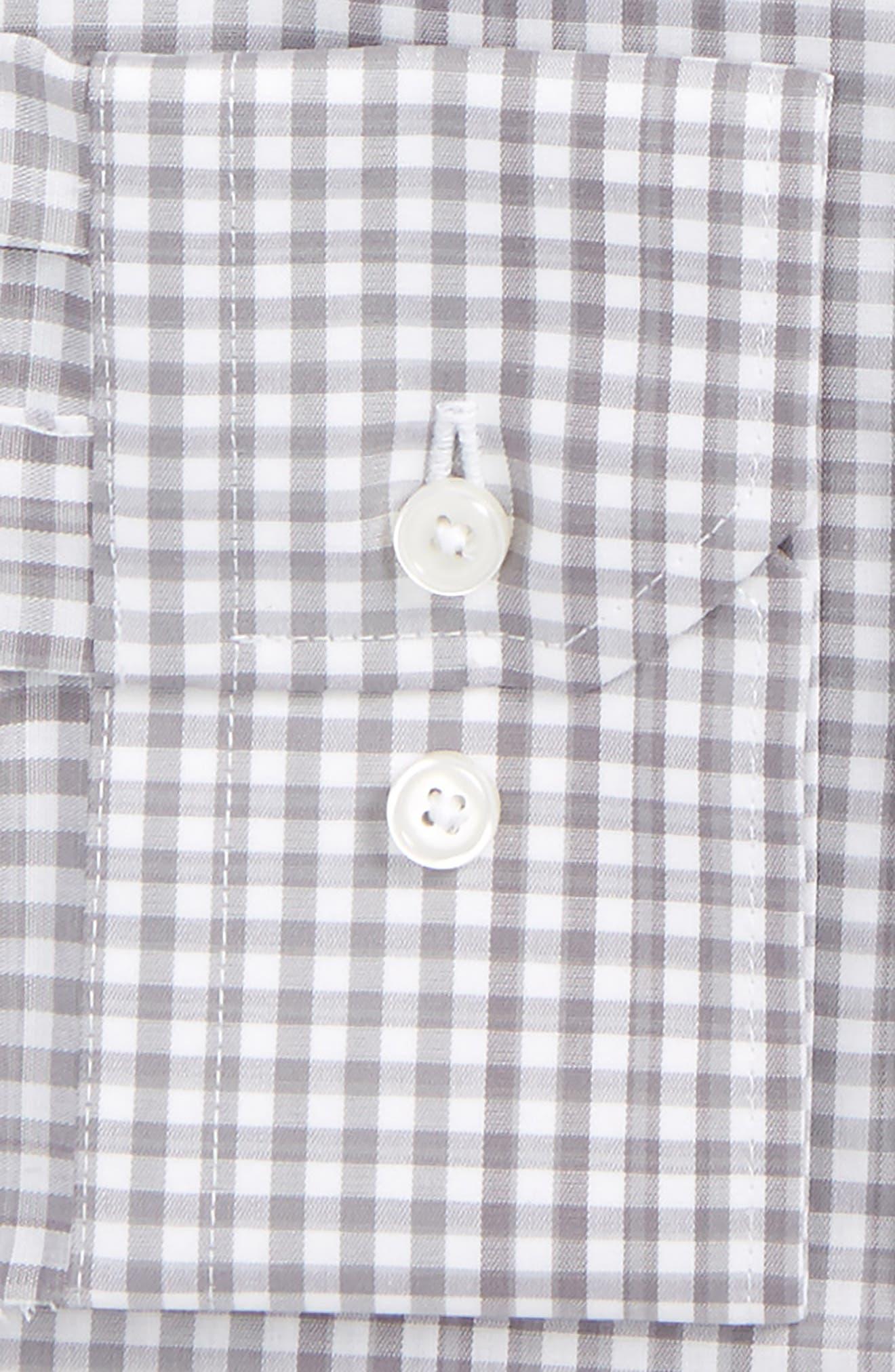 Trim Fit Stretch Non-Iron Check Dress Shirt,                             Alternate thumbnail 2, color,                             030