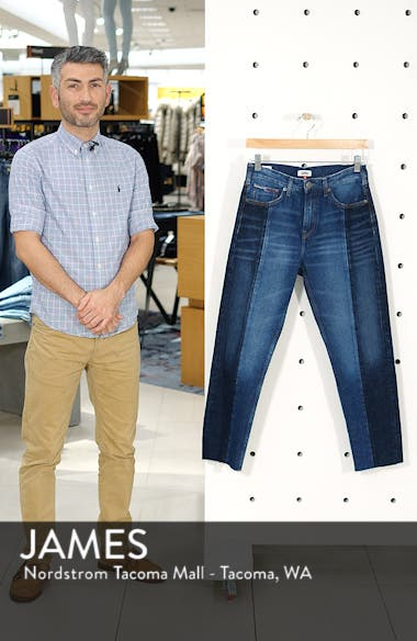 Izzy Paneled Slim Ankle Jeans, sales video thumbnail