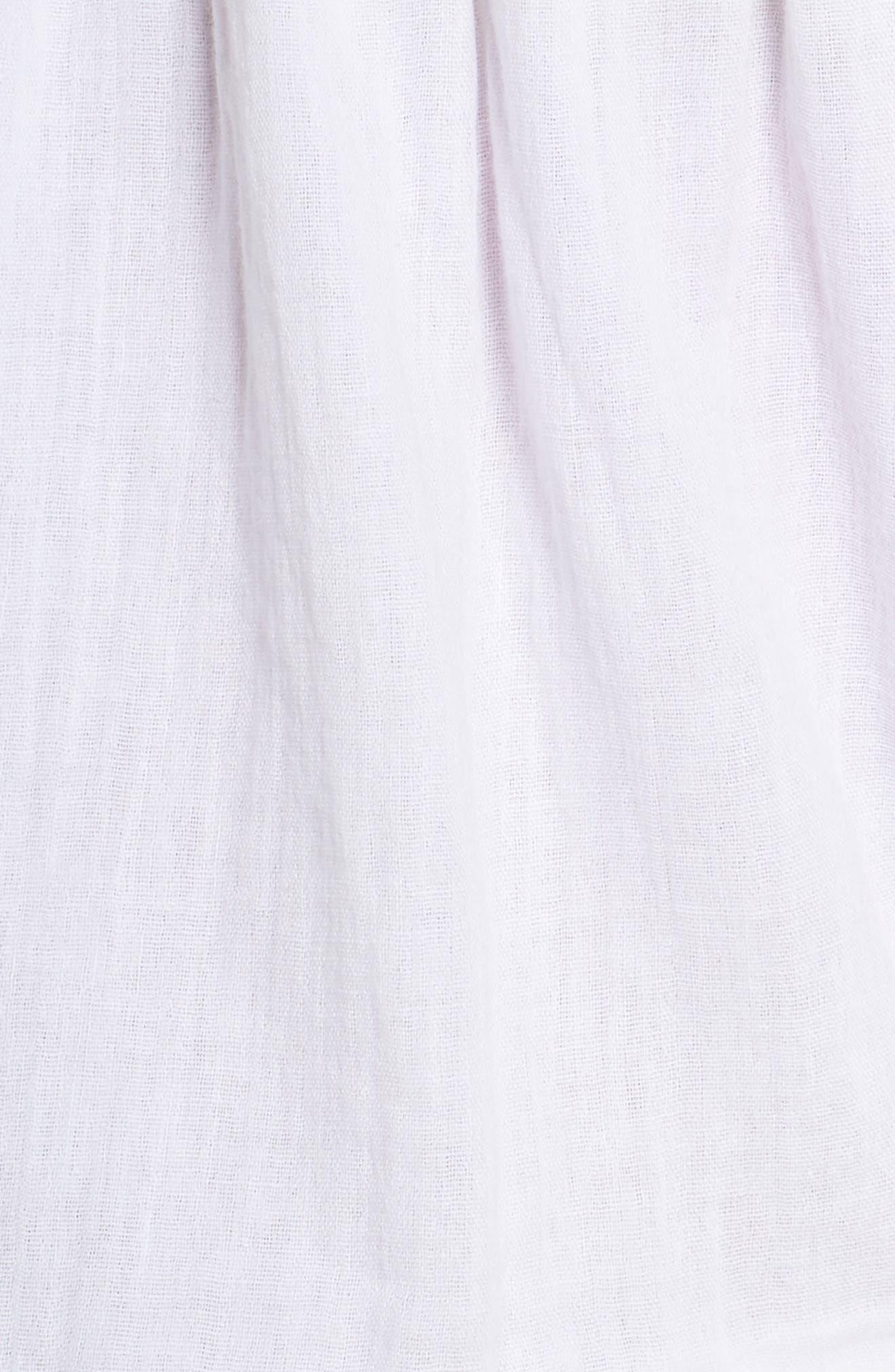 Cambria Ruffle Sleep Shorts,                             Alternate thumbnail 5, color,                             105