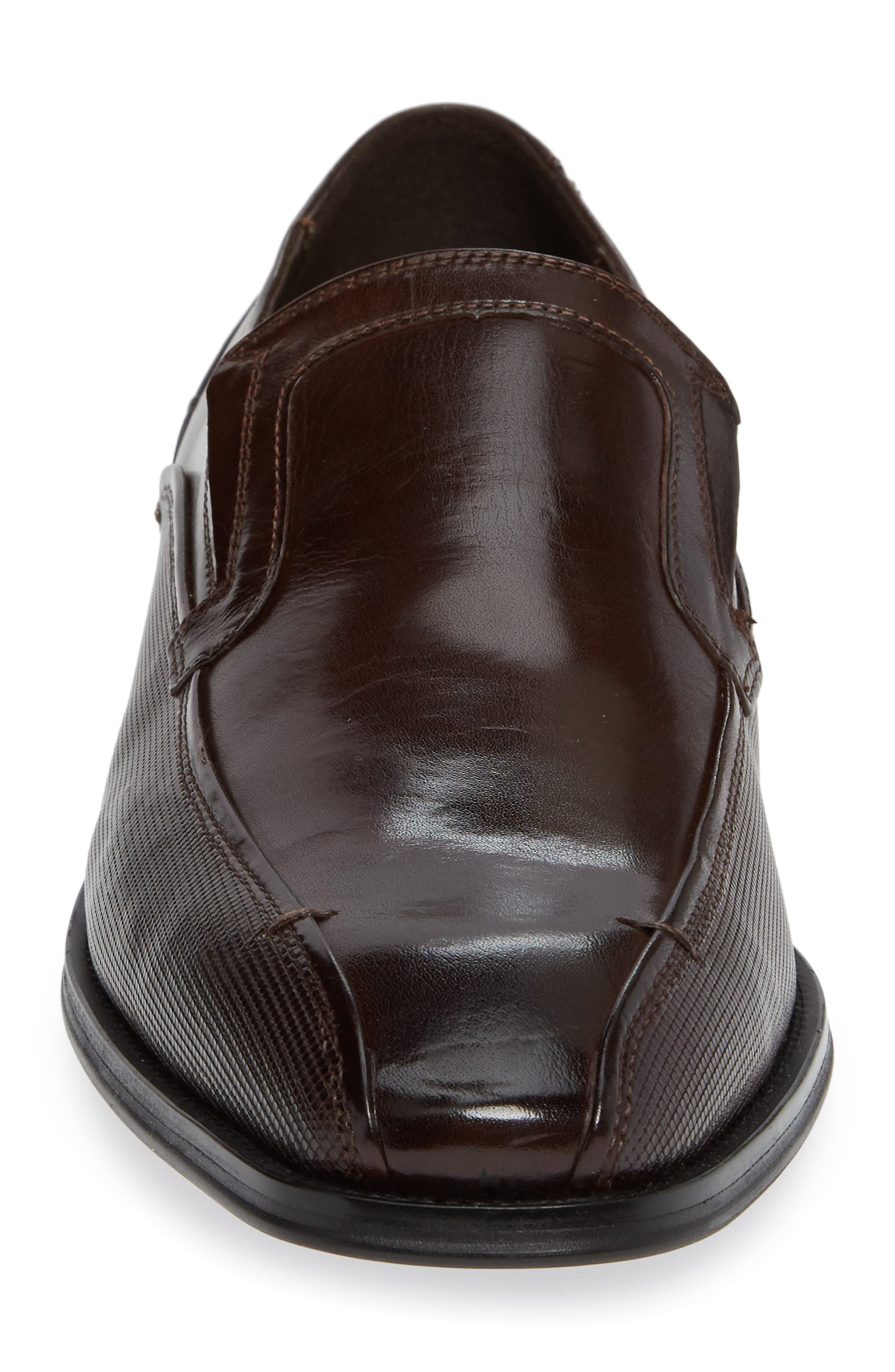Witter Bike Toe Loafer,                             Alternate thumbnail 4, color,                             BROWN LEATHER