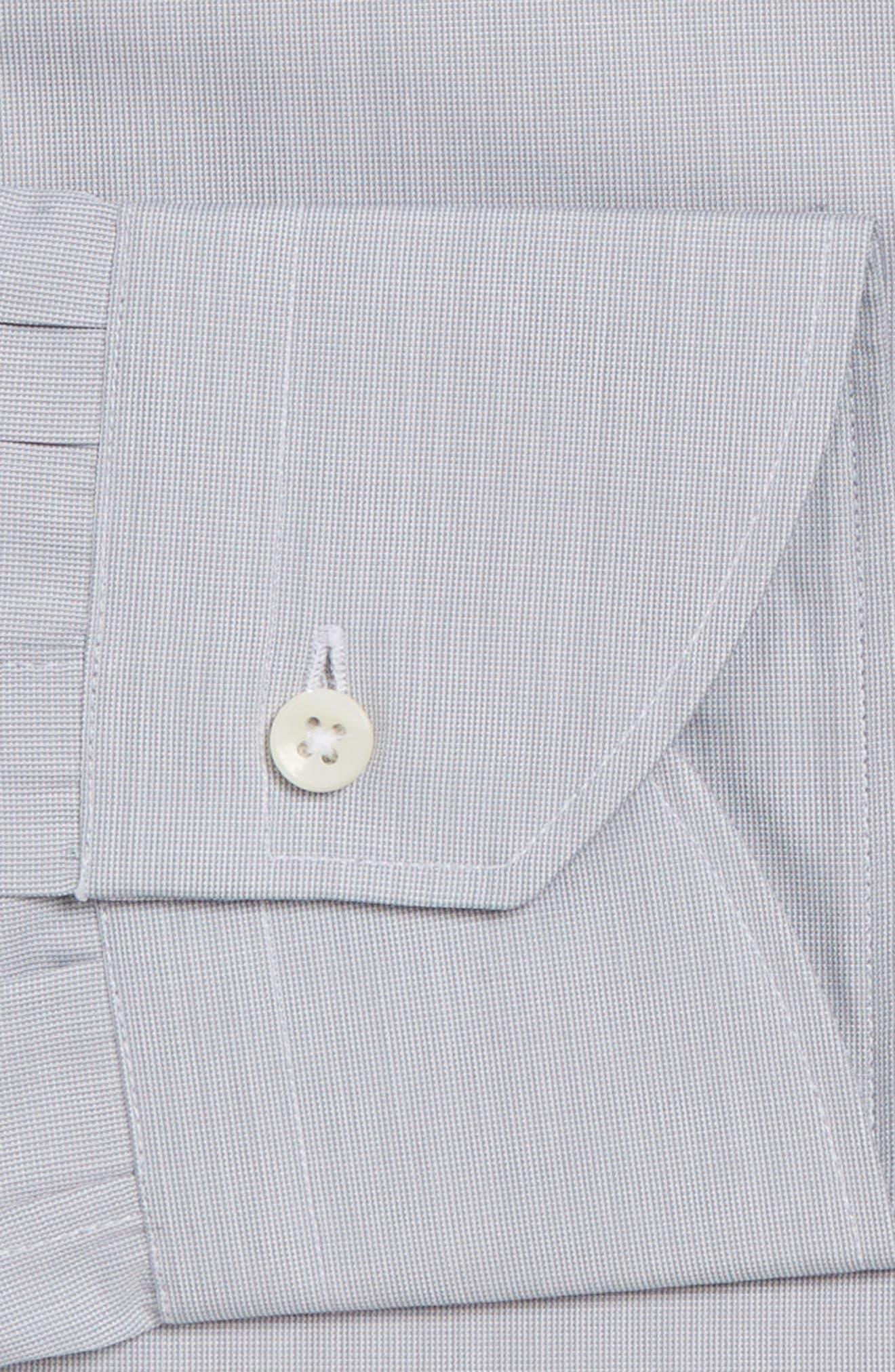 Regular Fit Solid Dress Shirt,                             Alternate thumbnail 3, color,                             050