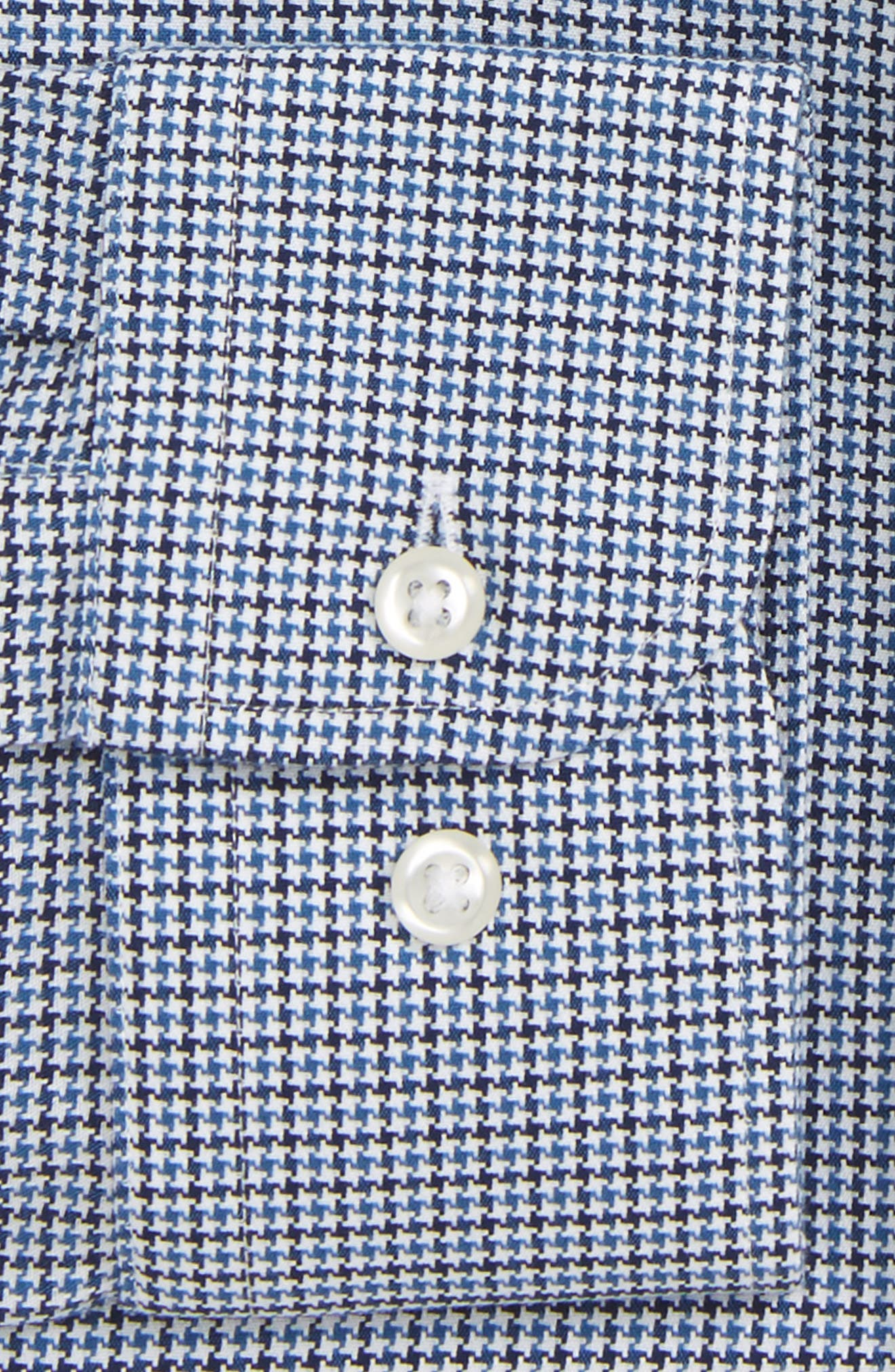 Smartcare<sup>™</sup> Extra Trim Fit Houndstooth Dress Shirt,                             Alternate thumbnail 6, color,                             410