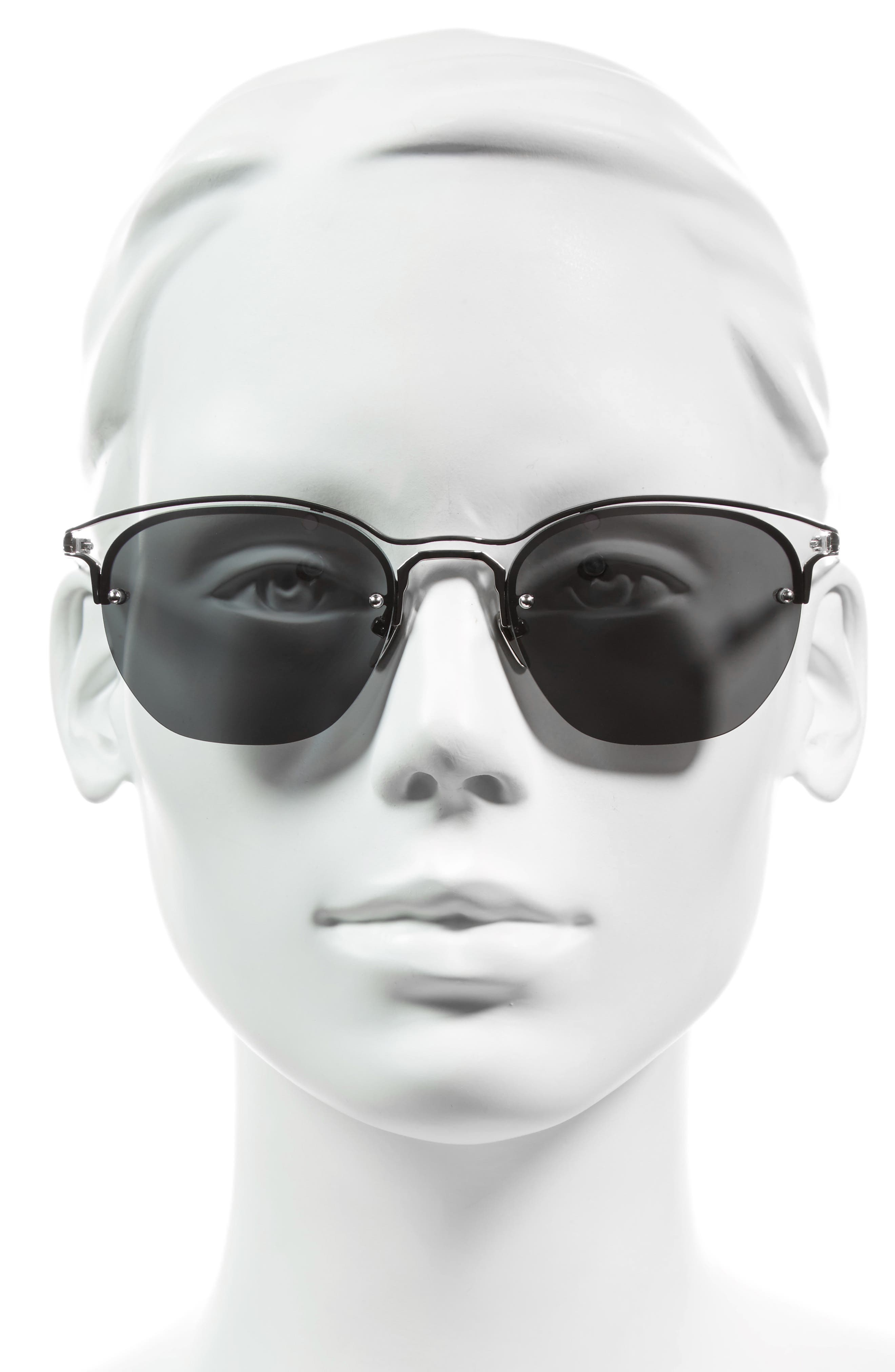 55mm Round Sunglasses,                             Alternate thumbnail 2, color,                             020