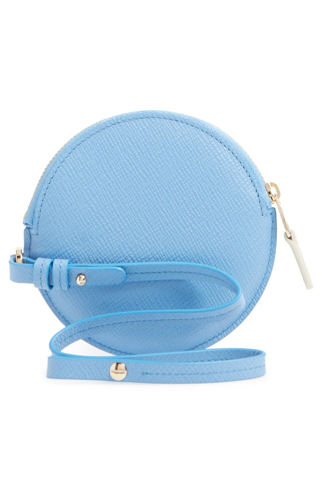 Circle Leather Coin Purse,                             Alternate thumbnail 10, color,