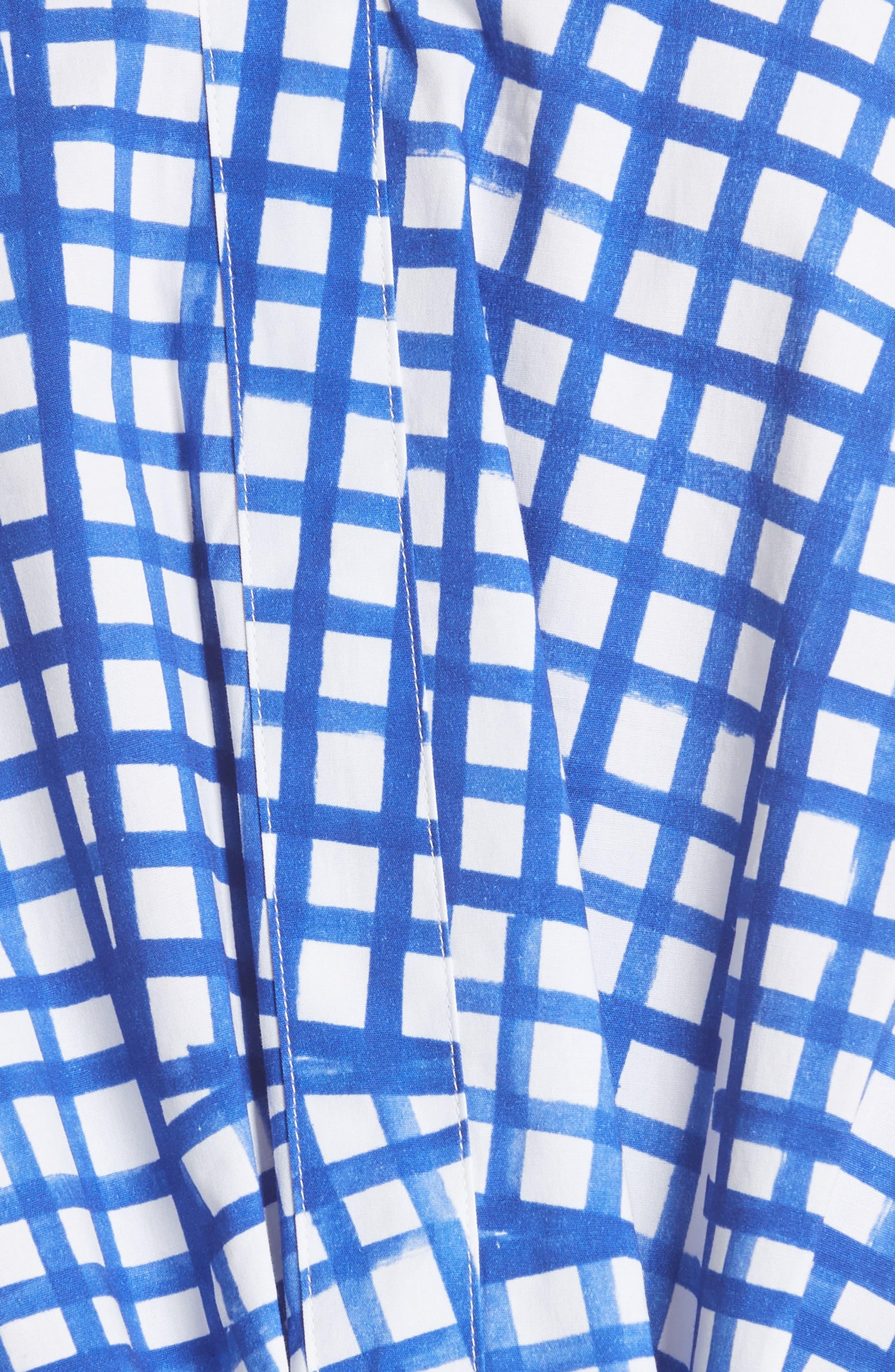 Leah Tie Back Stretch Cotton Blouse,                             Alternate thumbnail 5, color,                             473