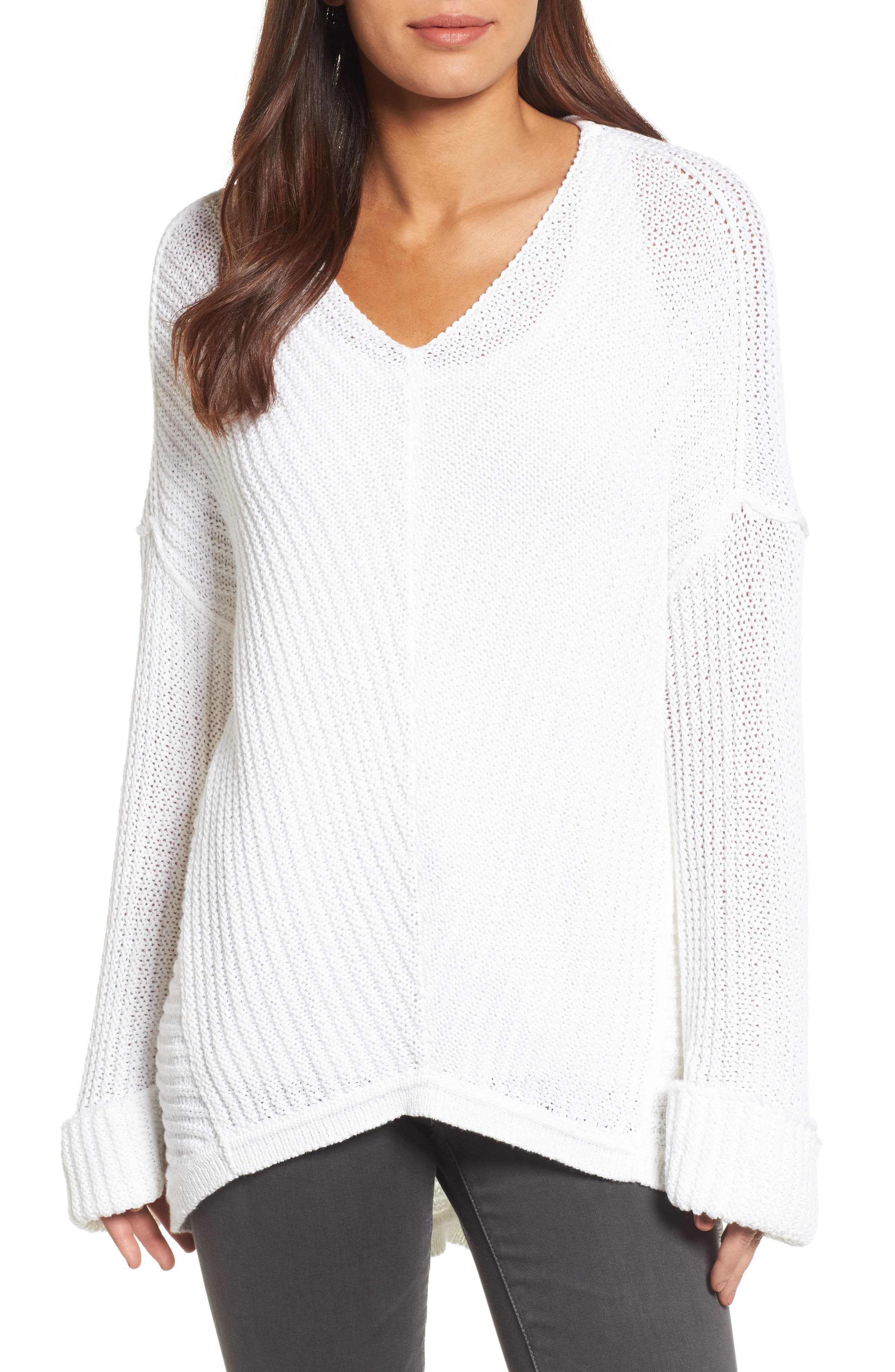Cuffed Sleeve Sweater,                             Main thumbnail 4, color,