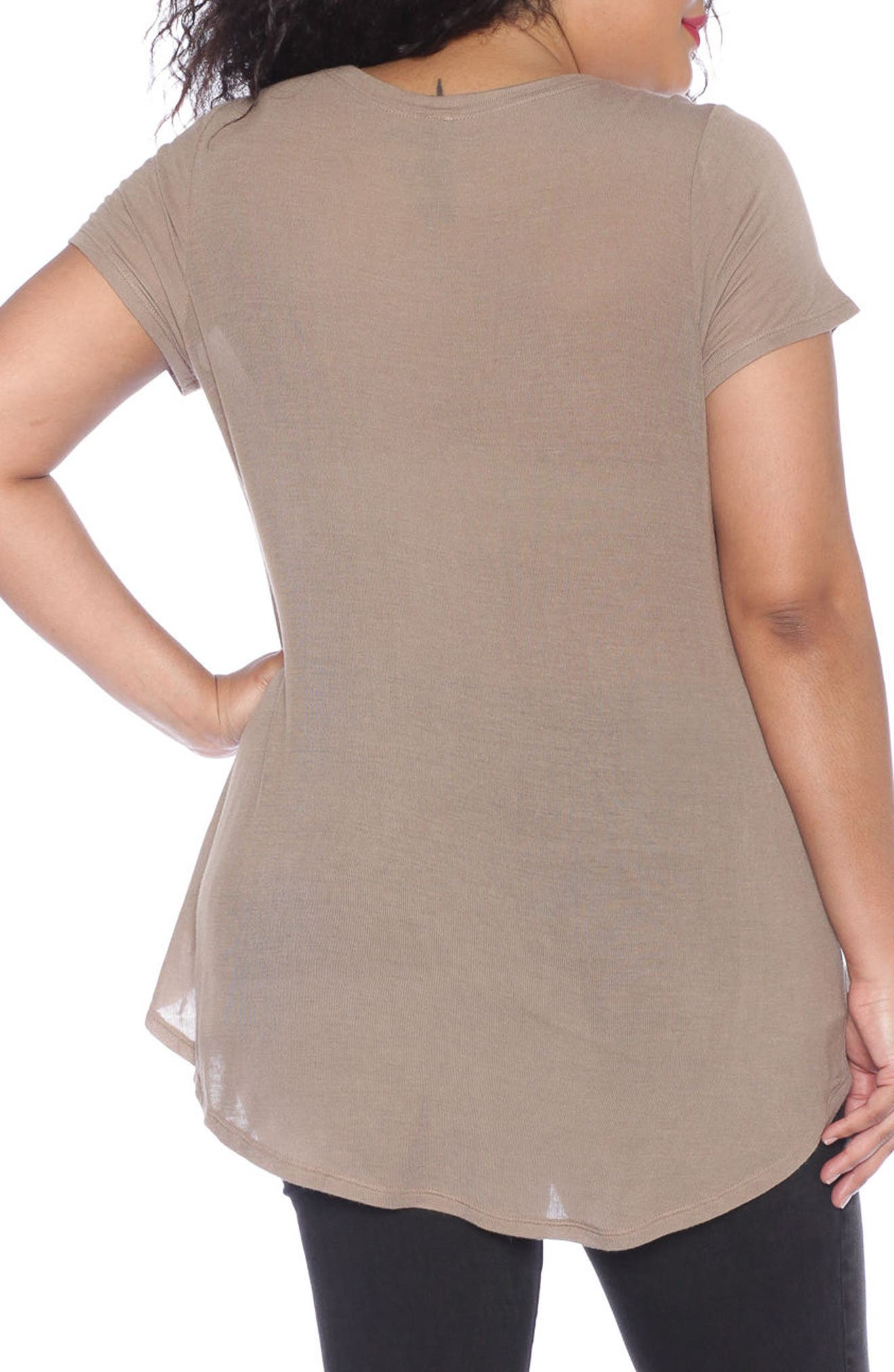 High/Low Scoop Neck Tee,                             Alternate thumbnail 3, color,                             210