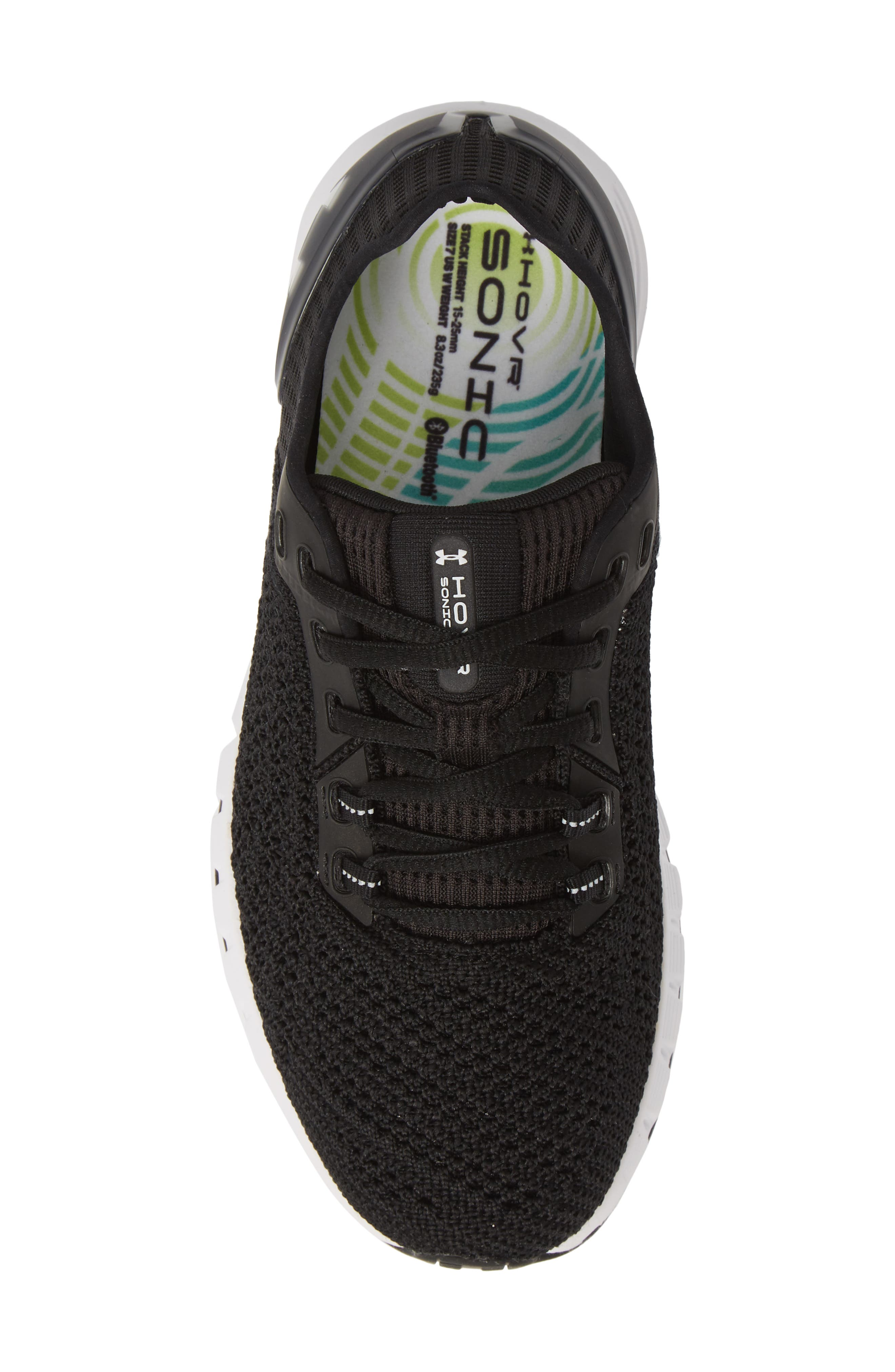 HOVR<sup>™</sup> Sonic 2 Connected Running Shoe,                             Alternate thumbnail 5, color,                             BLACK/ WHITE/ WHITE