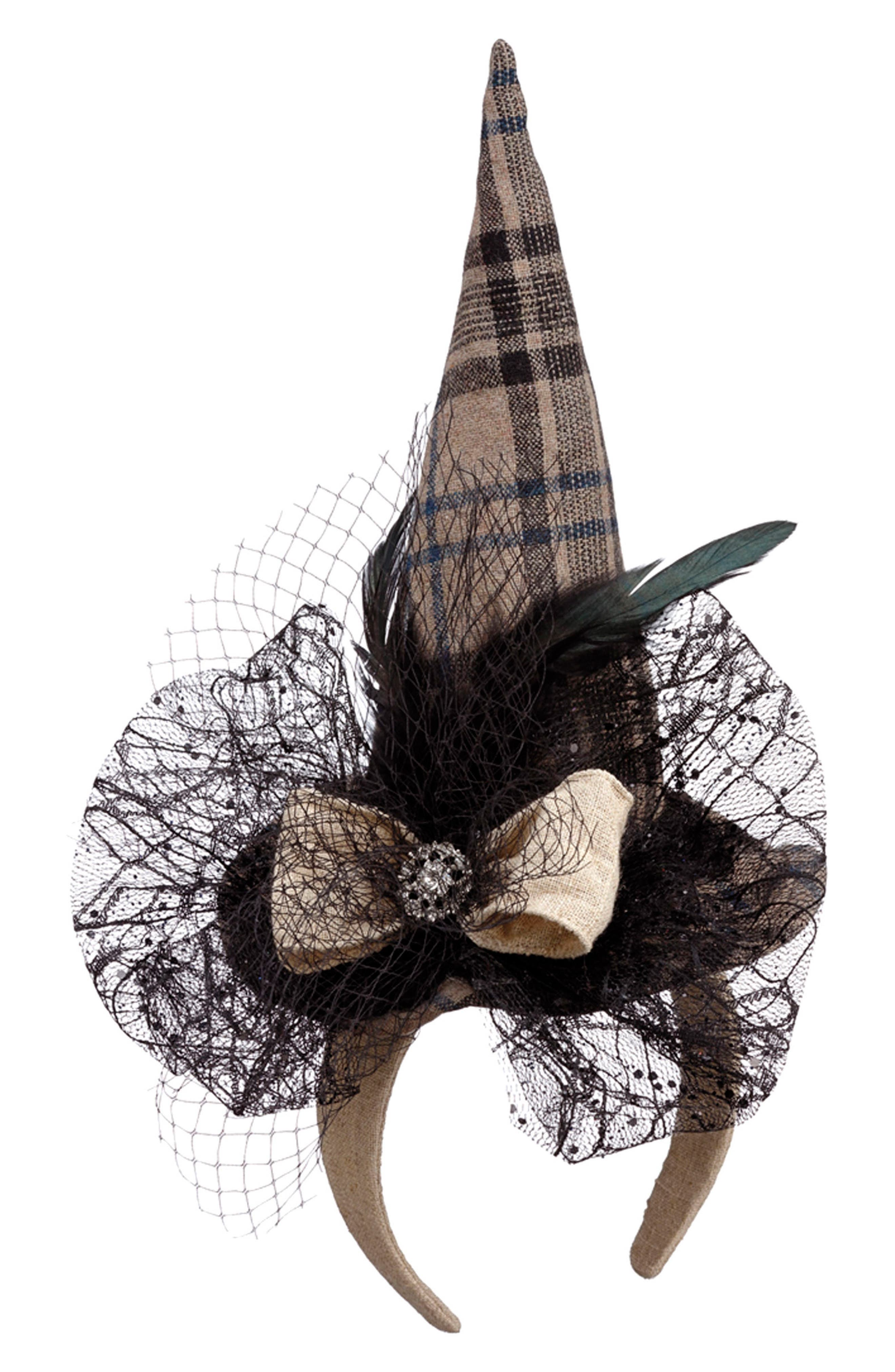 Witch Hat Fascinator,                             Main thumbnail 1, color,                             001