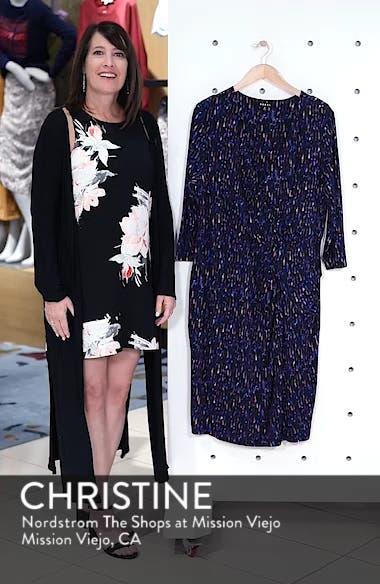 Printed Faux Wrap Dress, sales video thumbnail
