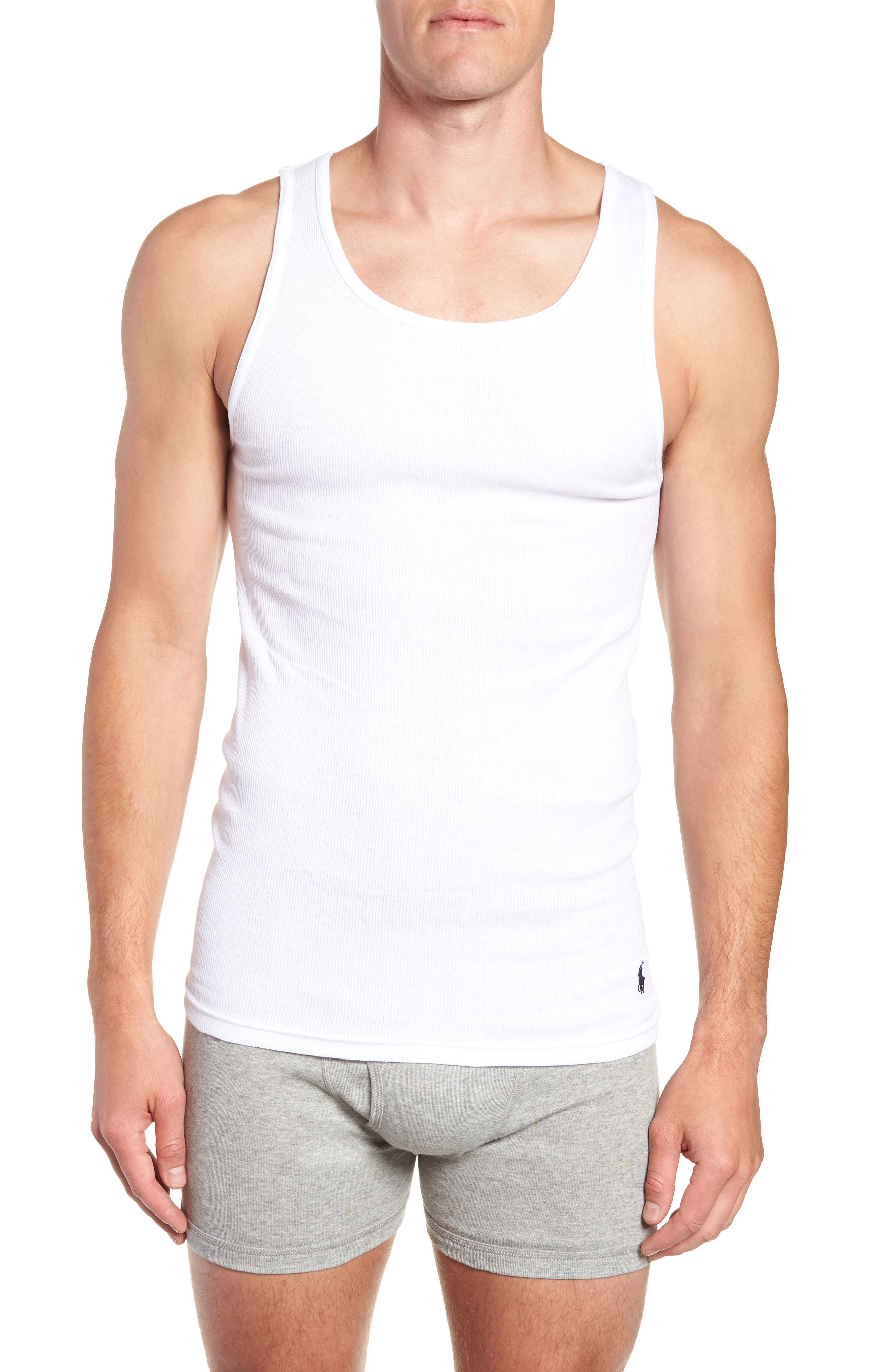 Polo Ralph Lauren 3-Pack Classic Tanks,                             Alternate thumbnail 2, color,                             WHITE