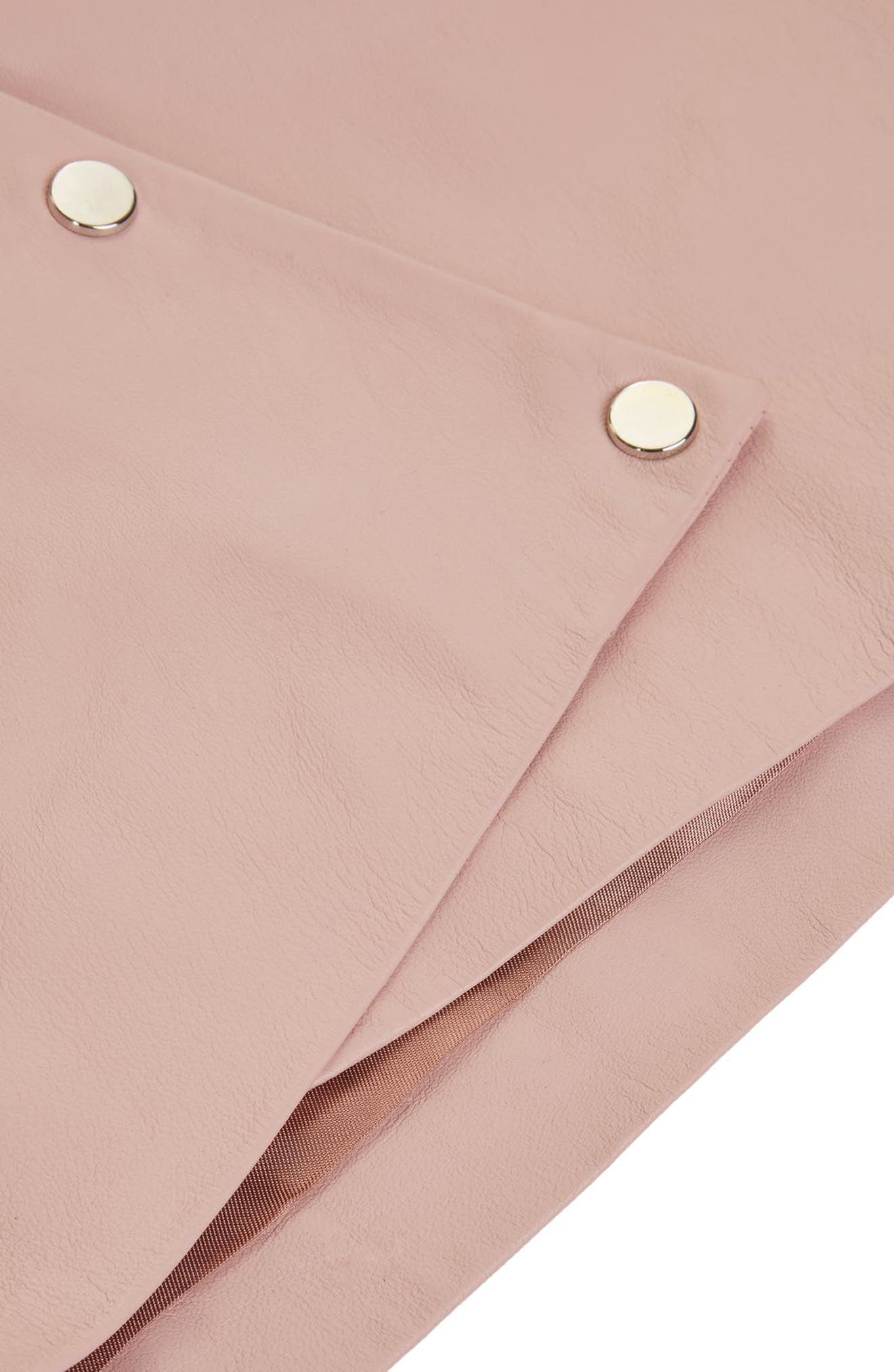 Leather Puff Sleeve Wrap Top,                             Alternate thumbnail 3, color,                             650