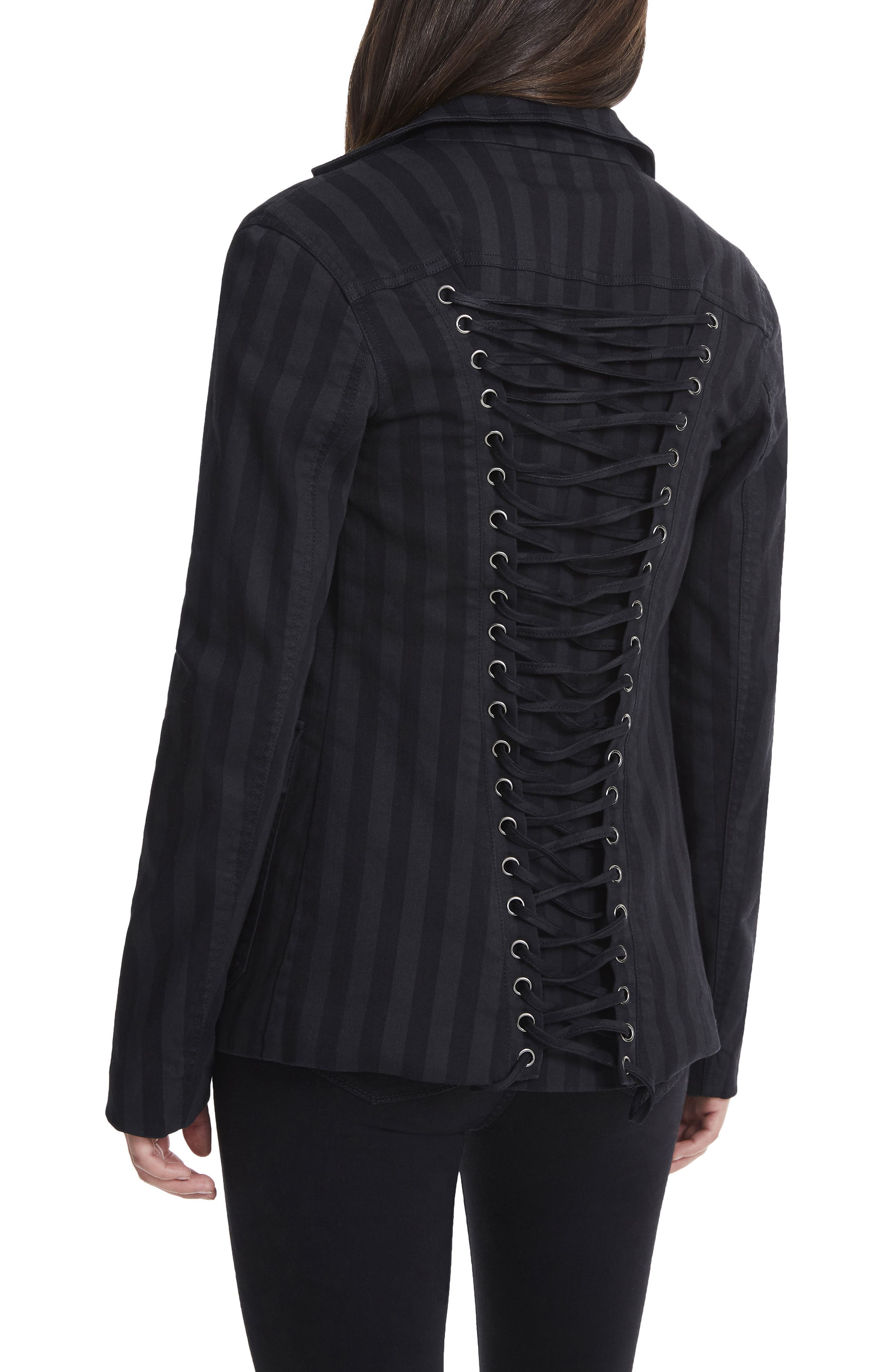 Forma Lace Back Blazer,                             Alternate thumbnail 2, color,                             001