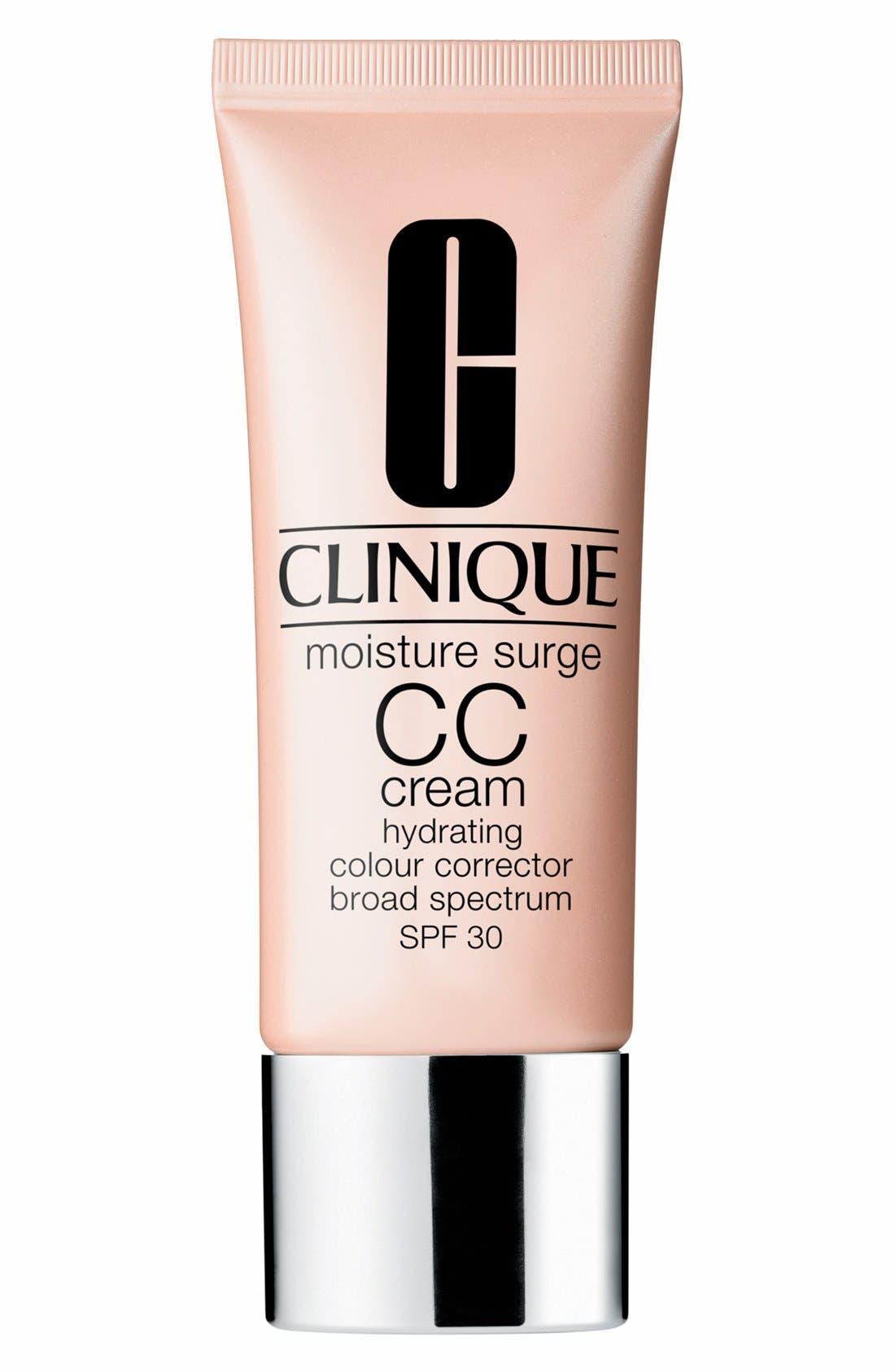 Moisture Surge CC Cream Hydrating Colour Corrector Broad Spectrum SPF 30,                             Main thumbnail 1, color,                             VERY LIGHT