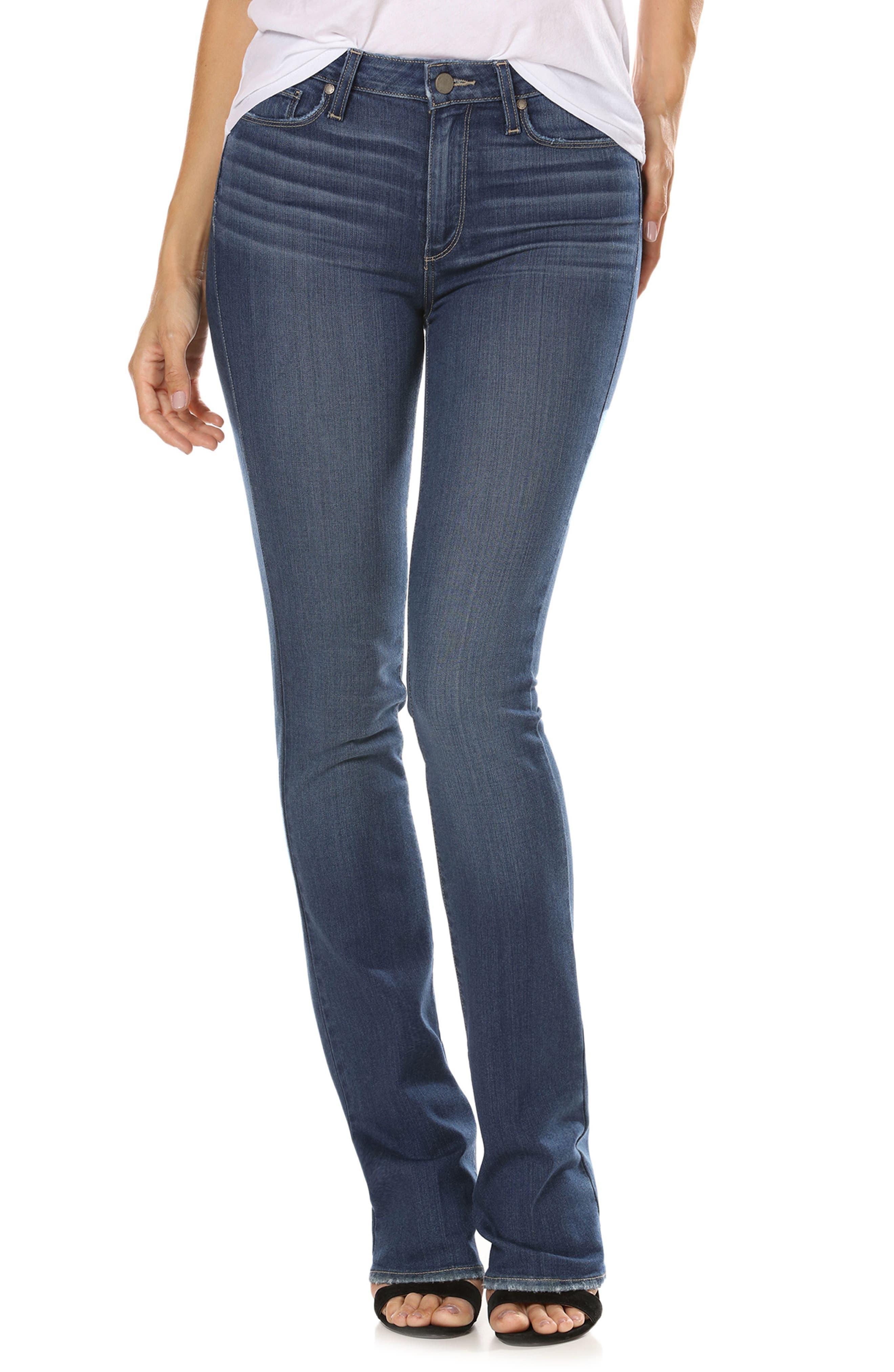 Transcend - Manhattan High Waist Bootcut Jeans,                             Main thumbnail 1, color,