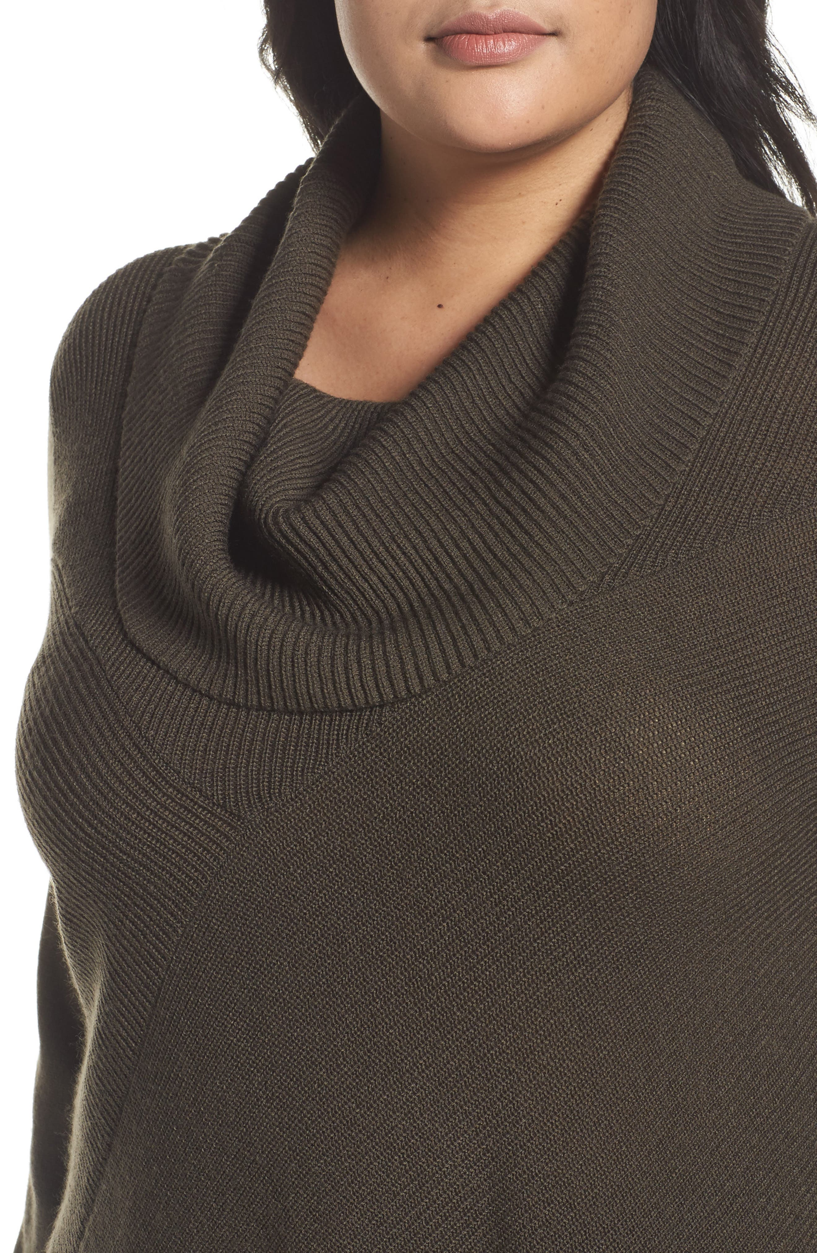Cowl Neck Ribbed Trim Pullover,                             Alternate thumbnail 21, color,