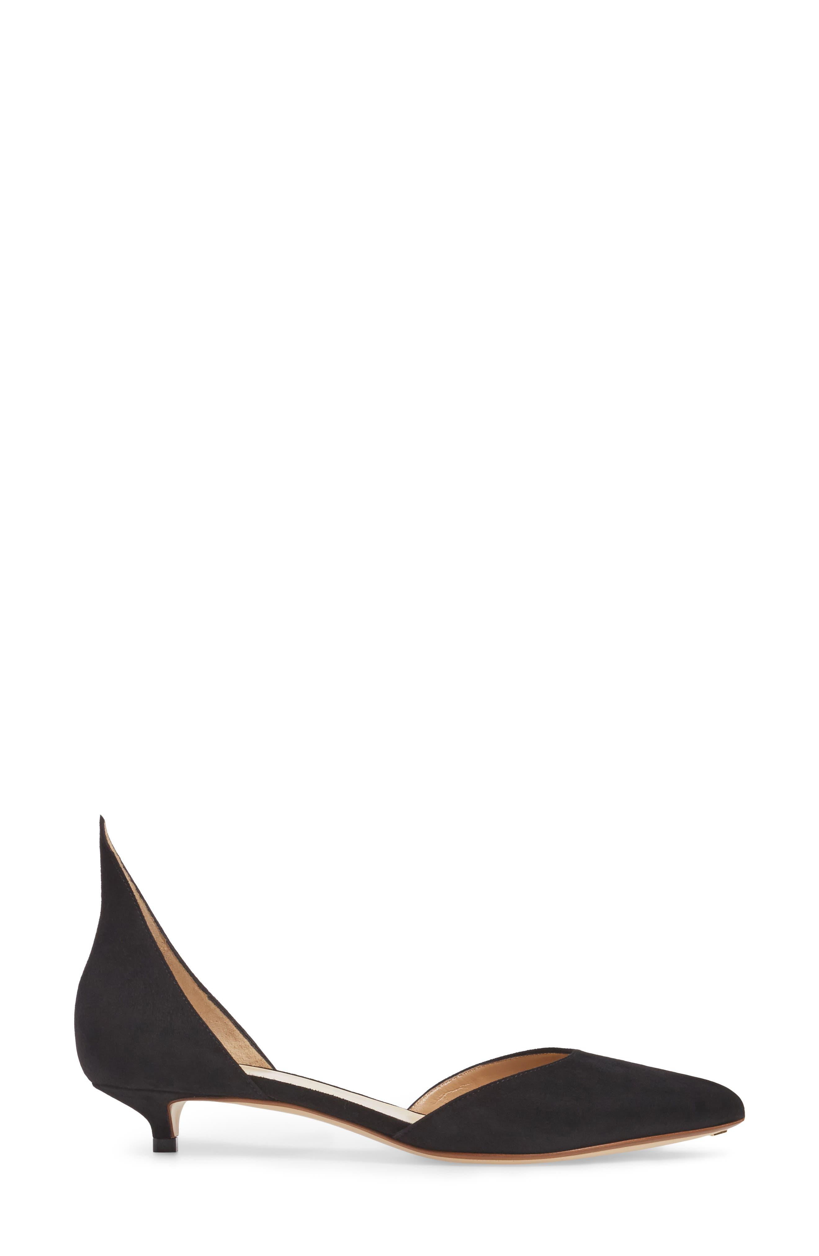 Pointy Toe Pump,                             Alternate thumbnail 3, color,                             BLACK