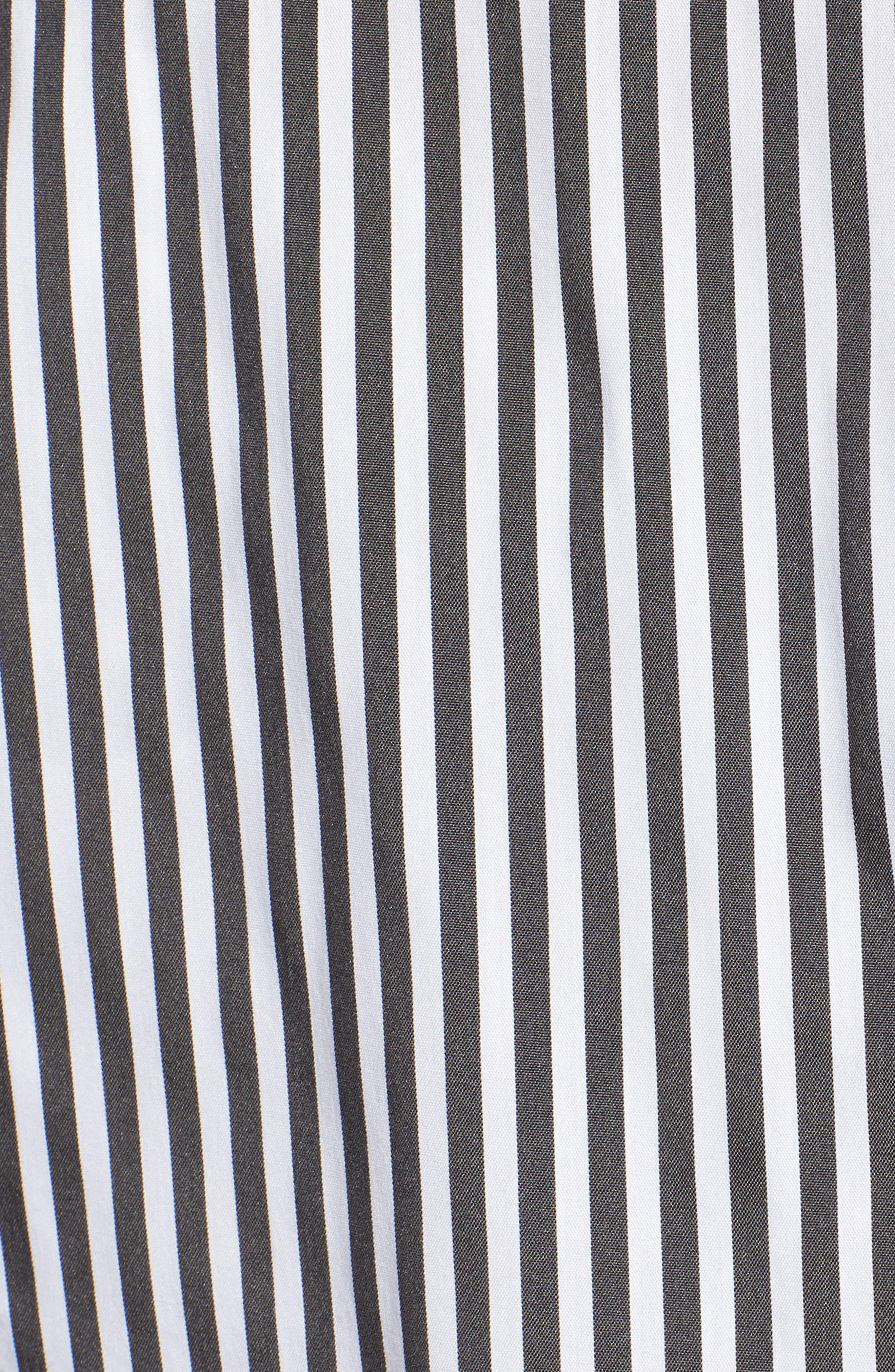 Stripe Smocked Corset Shirt,                             Alternate thumbnail 6, color,                             001