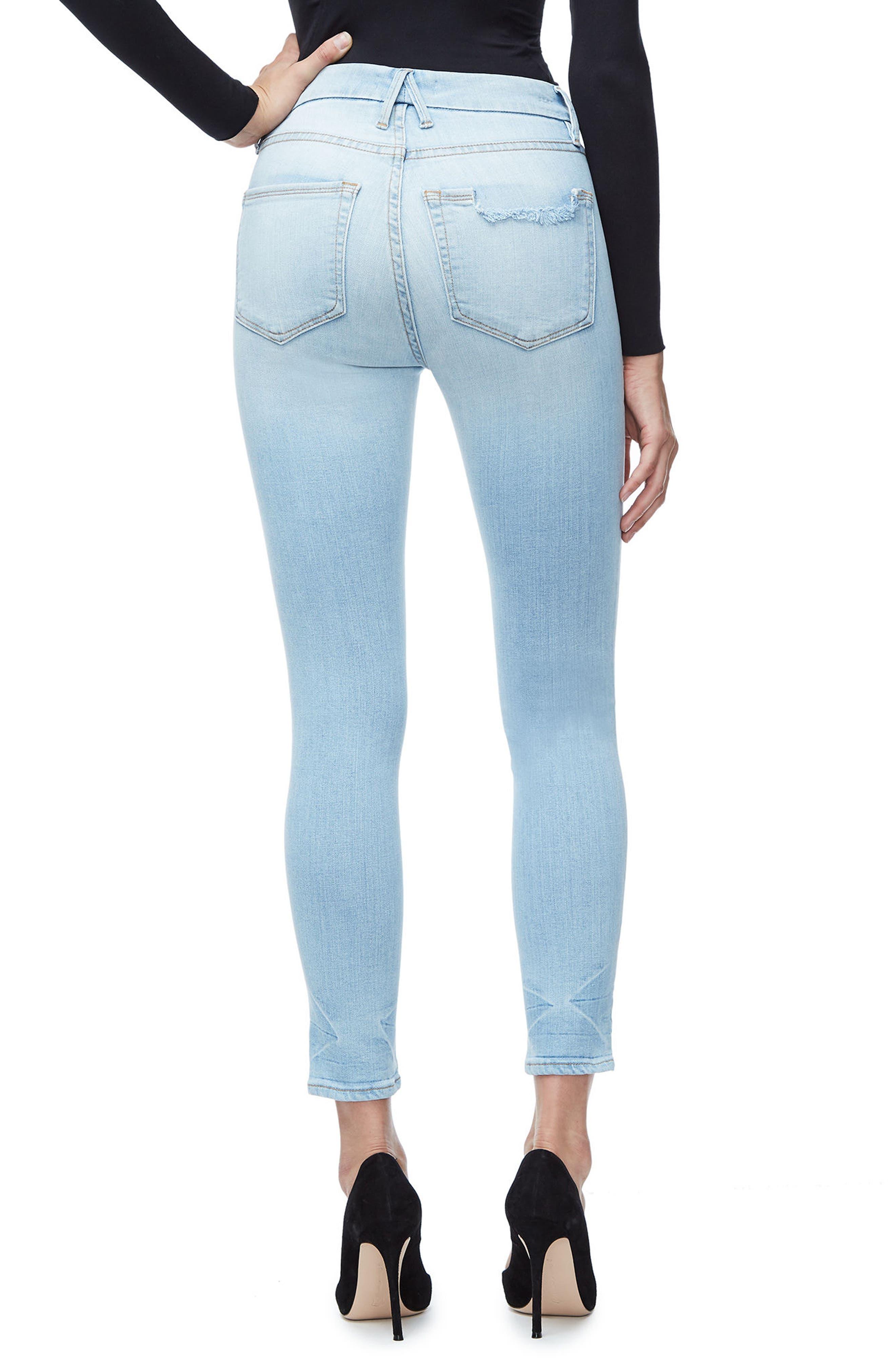 Good Legs High Waist Crop Skinny Jeans,                             Alternate thumbnail 3, color,                             401