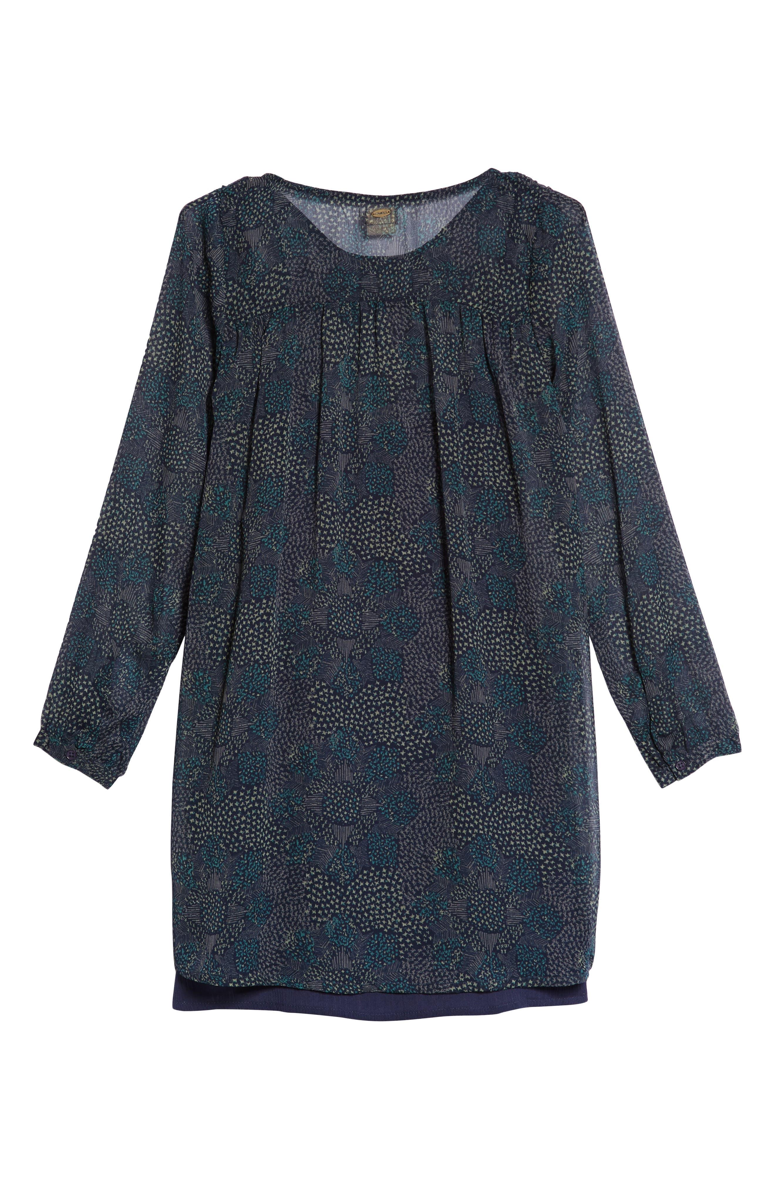 Summer Layered Dress,                             Alternate thumbnail 2, color,                             MOOD INDIGO