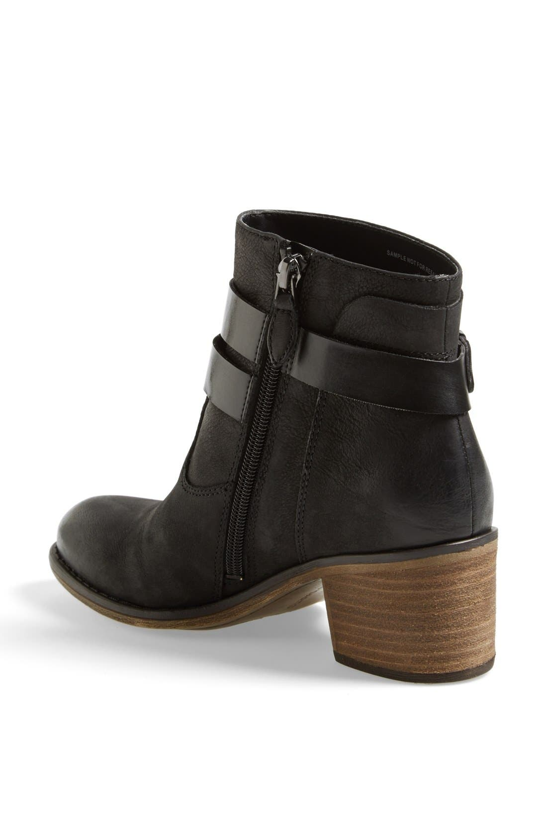 'Linden' Leather Bootie,                             Alternate thumbnail 3, color,                             001