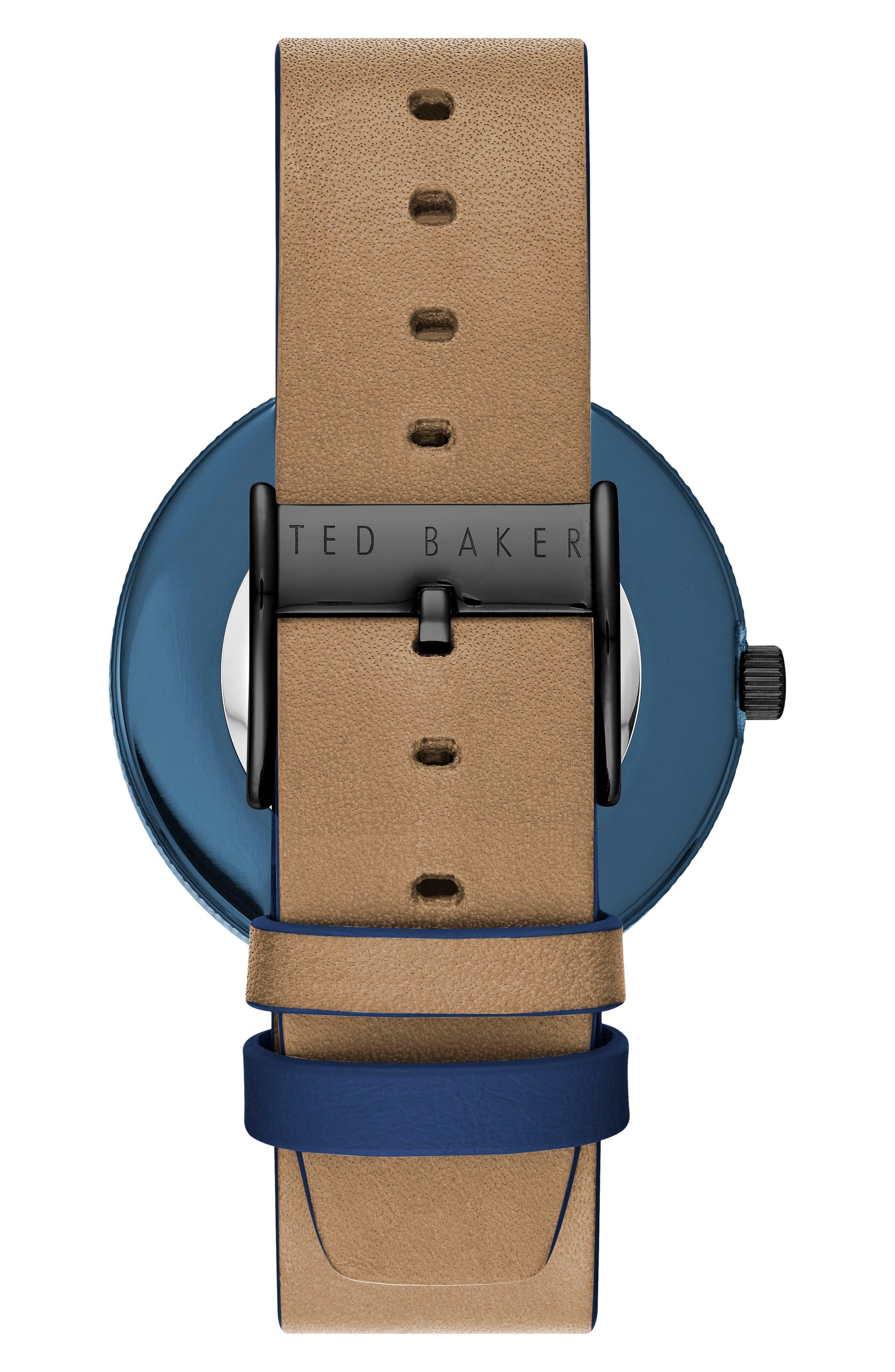 Josh Leather Strap Watch, 42mm,                             Alternate thumbnail 2, color,                             200