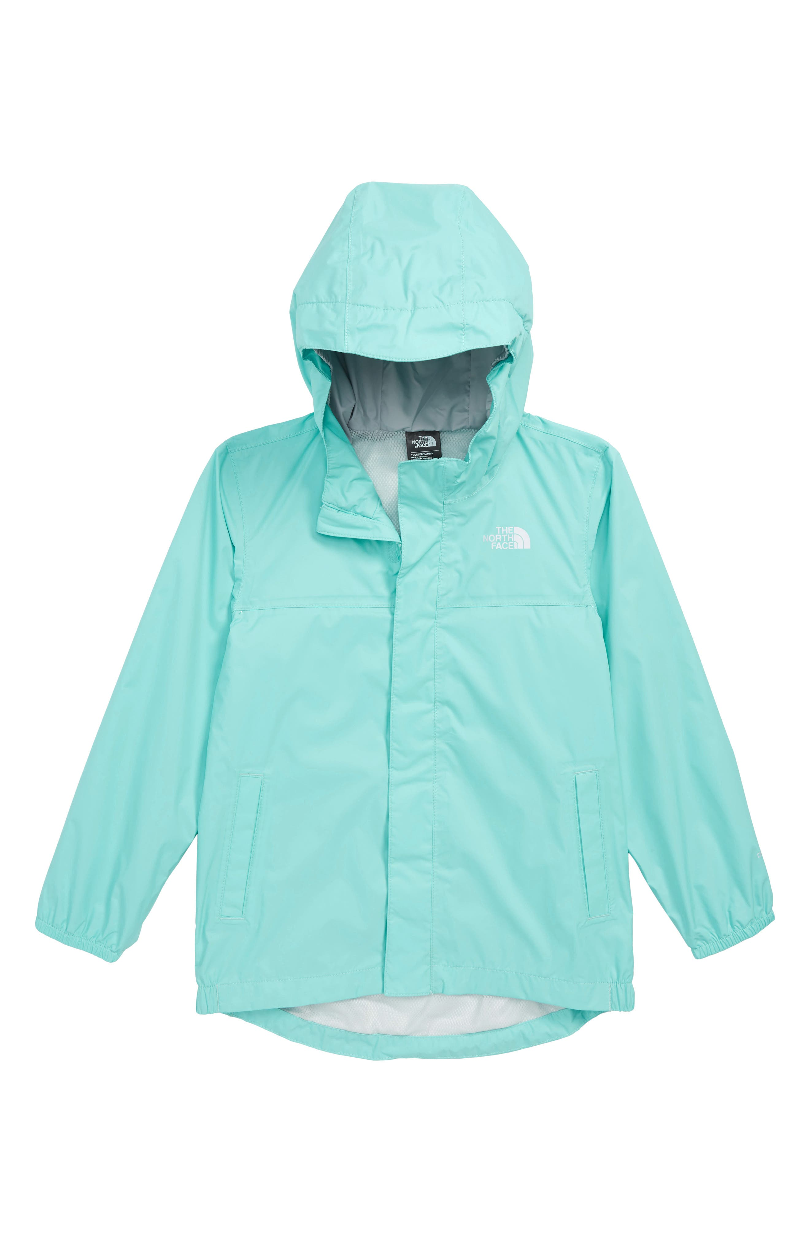 Tailout Hooded Rain Jacket,                         Main,                         color, MINT BLUE