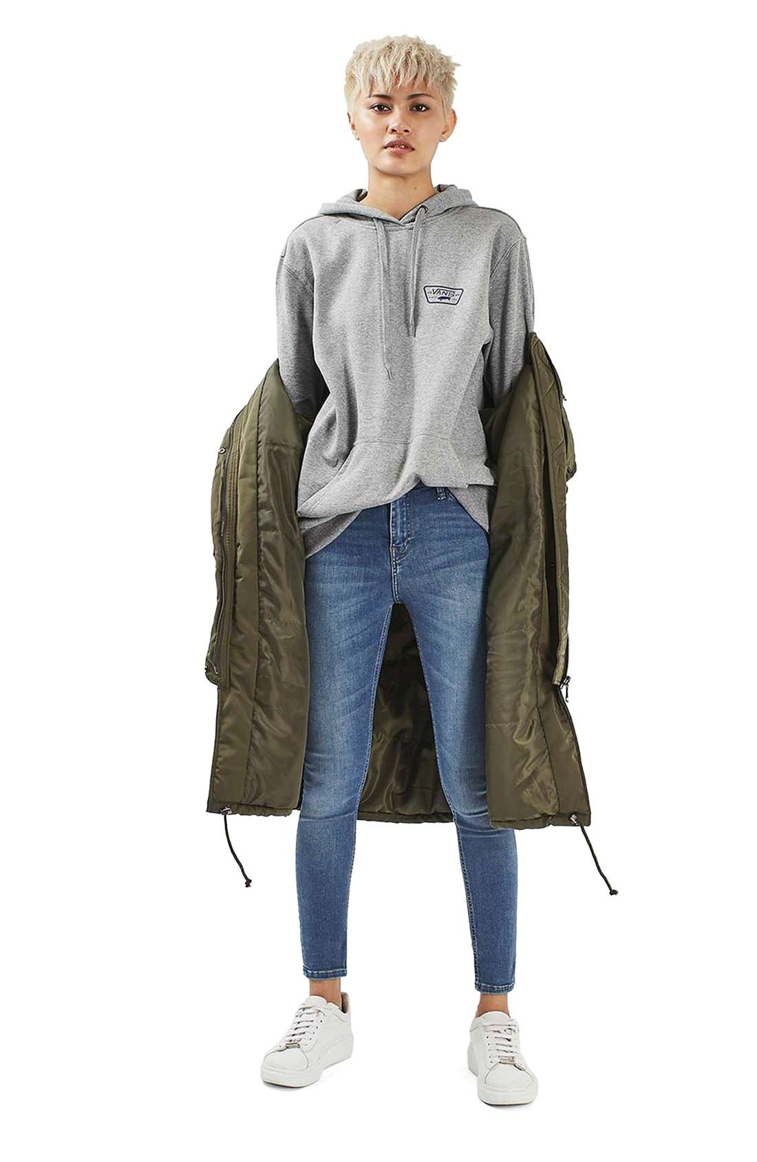 Jamie High Waist Crop Skinny Jeans,                             Alternate thumbnail 10, color,