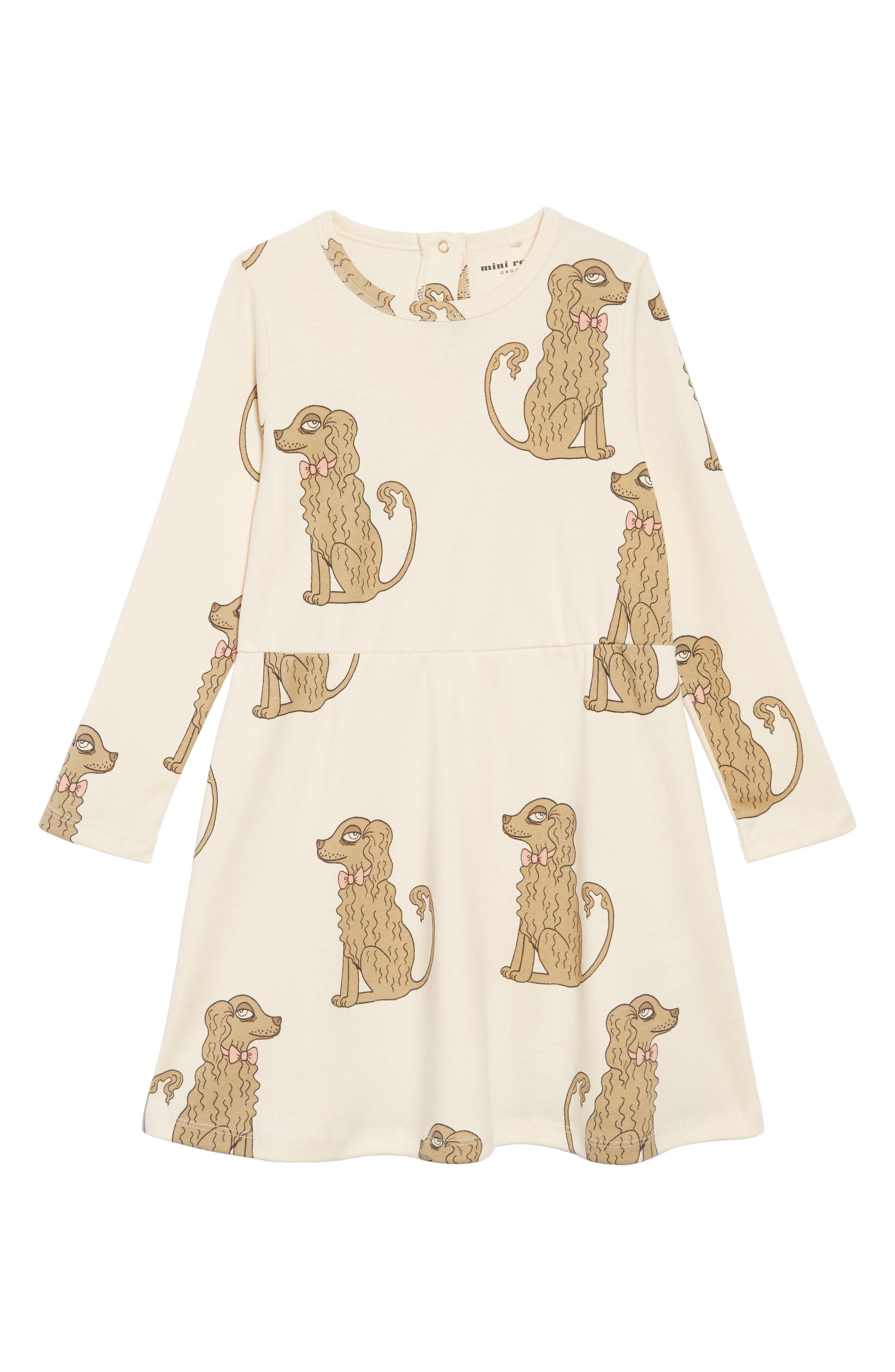 Spaniel Organic Cotton Dress,                         Main,                         color, OFF WHITE