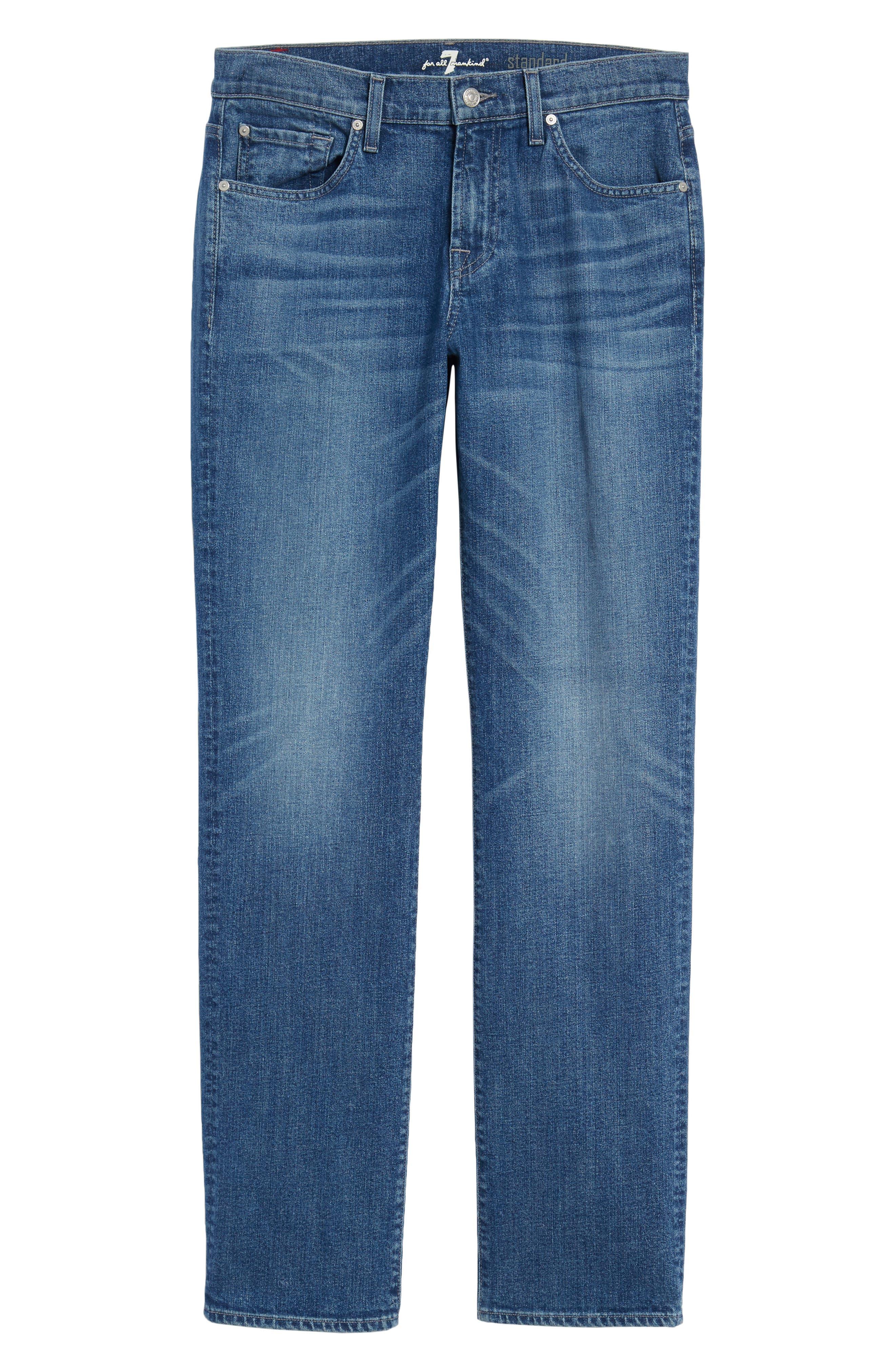 Standard Straight Leg Jeans,                             Alternate thumbnail 6, color,