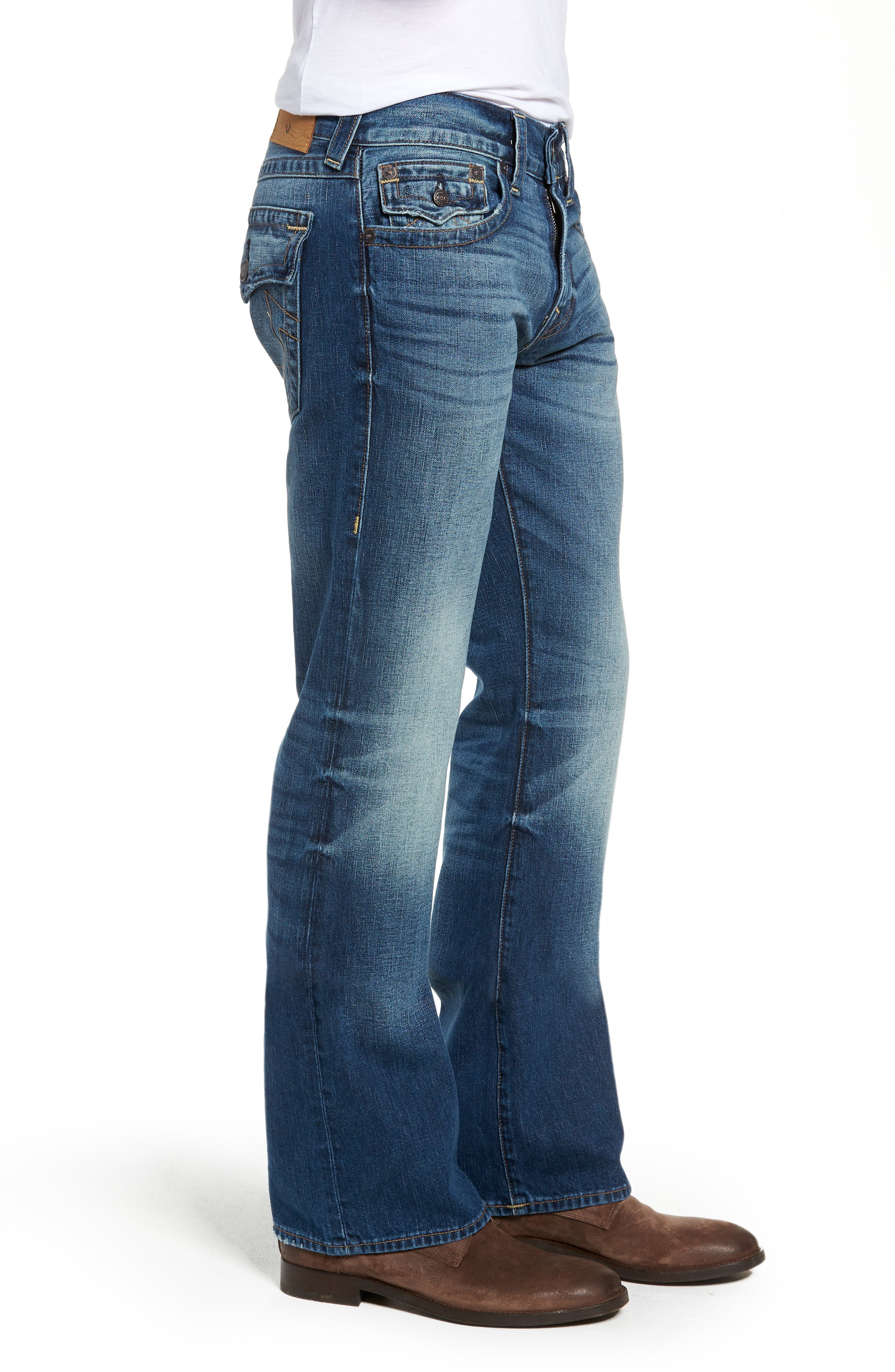 Billy Bootcut Jeans,                             Alternate thumbnail 3, color,                             BLUE REBEL
