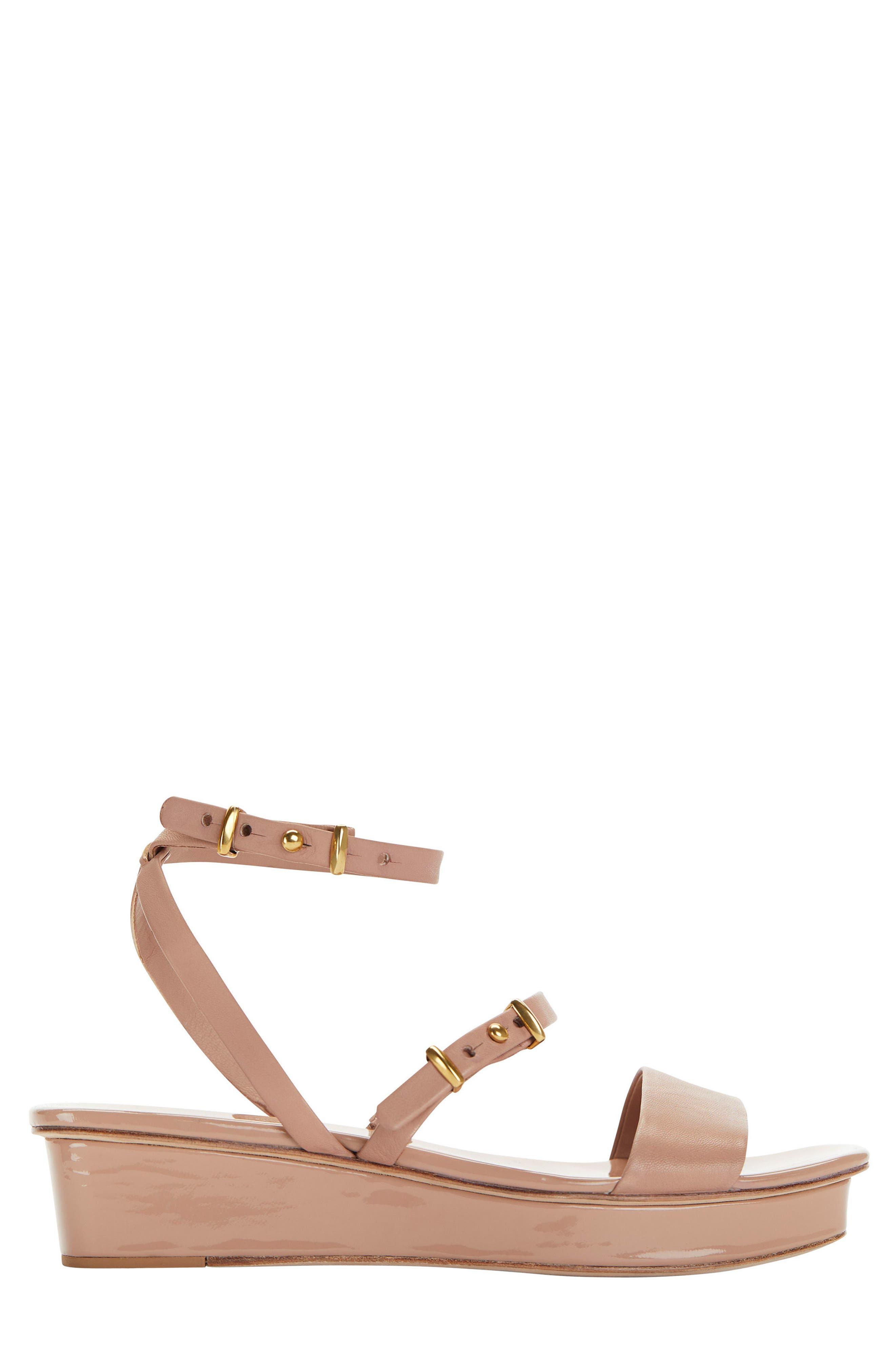 Ankle Strap Wedge Sandal,                             Alternate thumbnail 6, color,