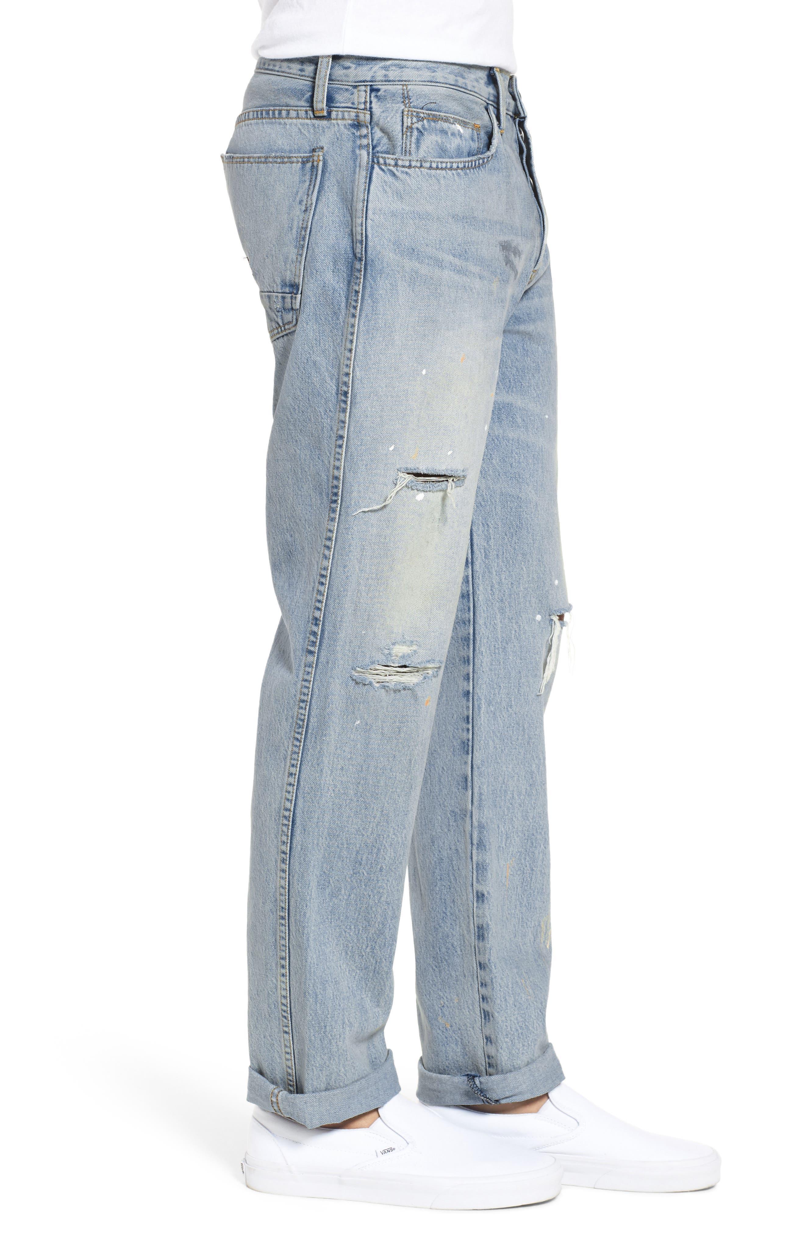 Dixon Straight Fit Jeans,                             Alternate thumbnail 3, color,                             451