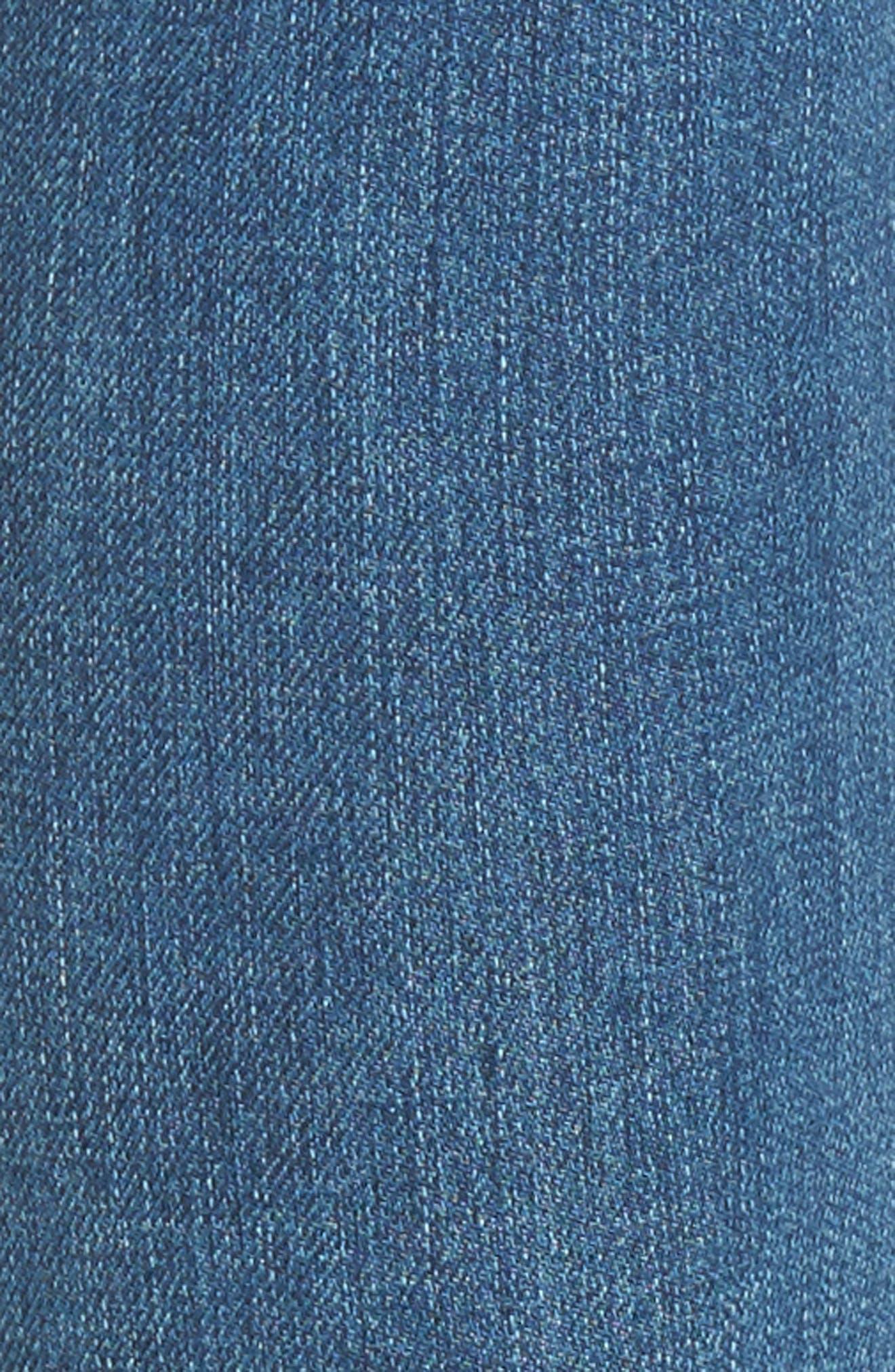 The Legging Step Hem Ankle Skinny Jeans,                             Alternate thumbnail 5, color,                             424