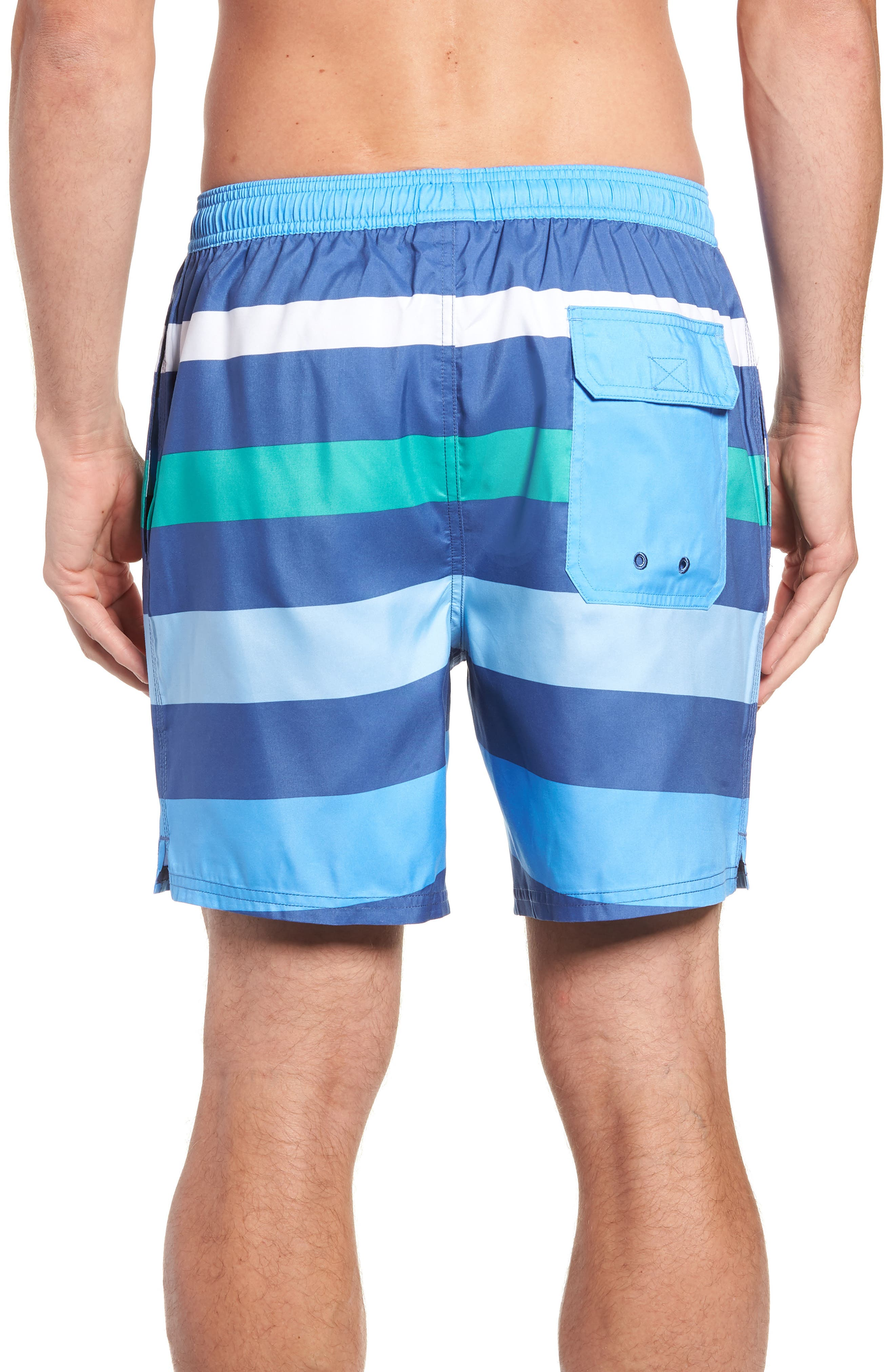 Chappy Pieced Swim Trunks,                             Alternate thumbnail 2, color,                             MOONSHINE
