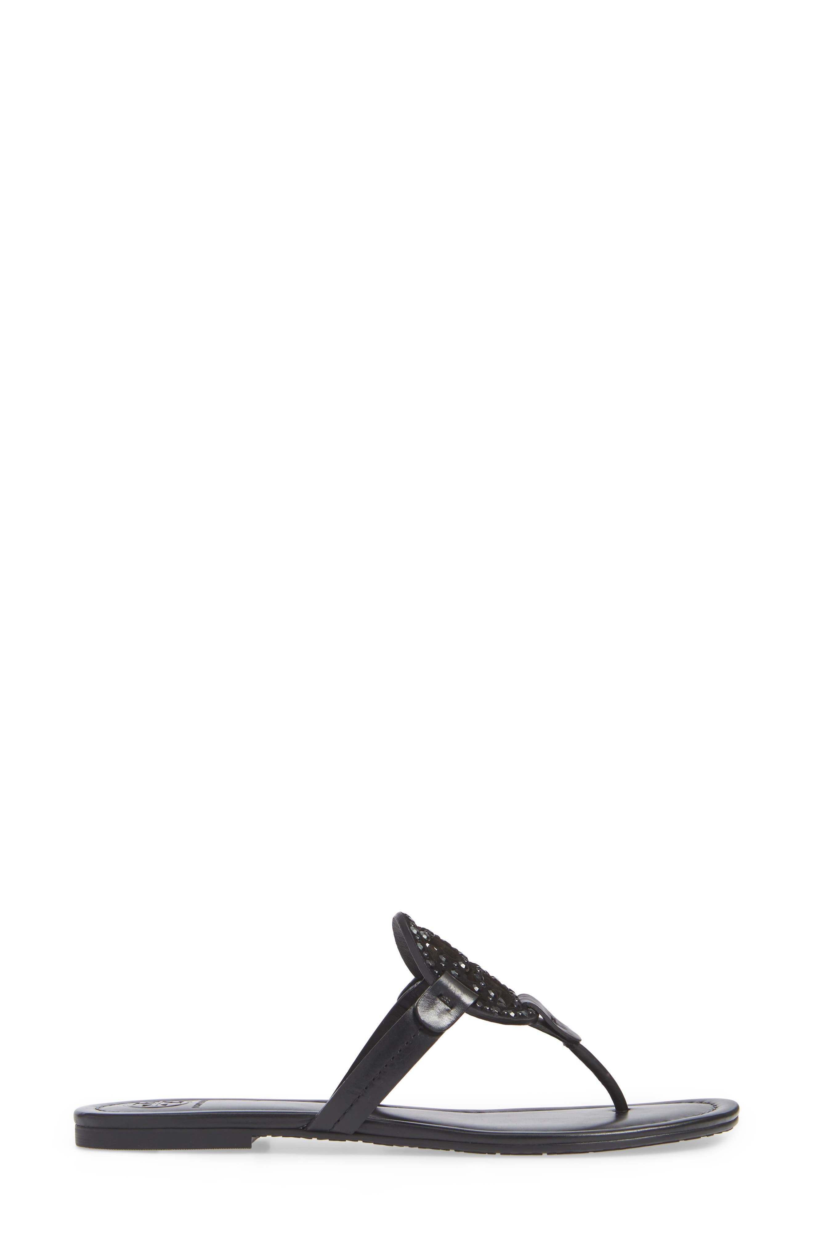 Miller Embellished Sandal,                             Alternate thumbnail 3, color,                             PERFECT BLACK