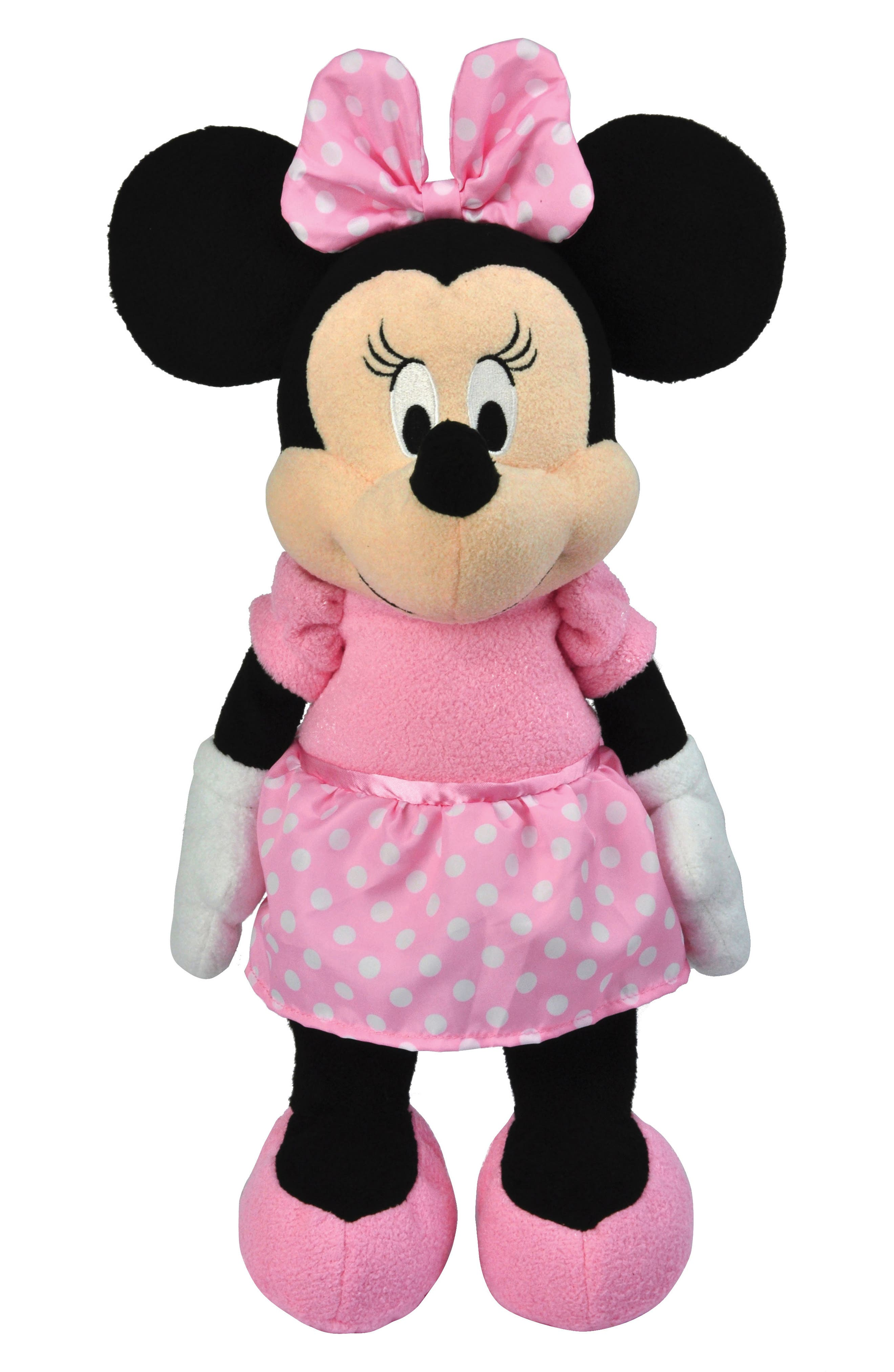 Minnie Mouse Floppy Plush Toy,                             Main thumbnail 1, color,                             PINK
