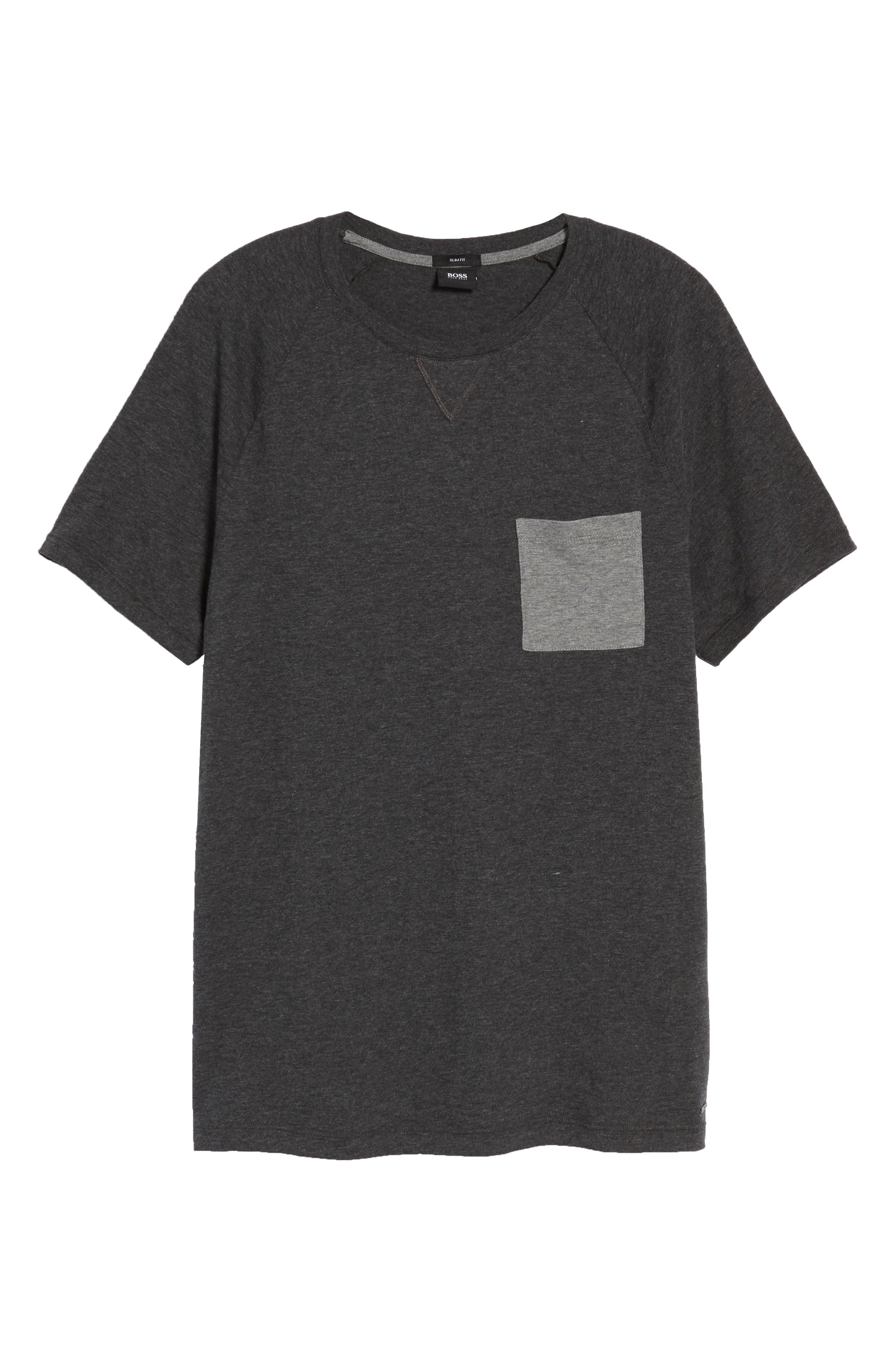 Tessler Slim Fit Pocket T-Shirt,                             Alternate thumbnail 6, color,                             001