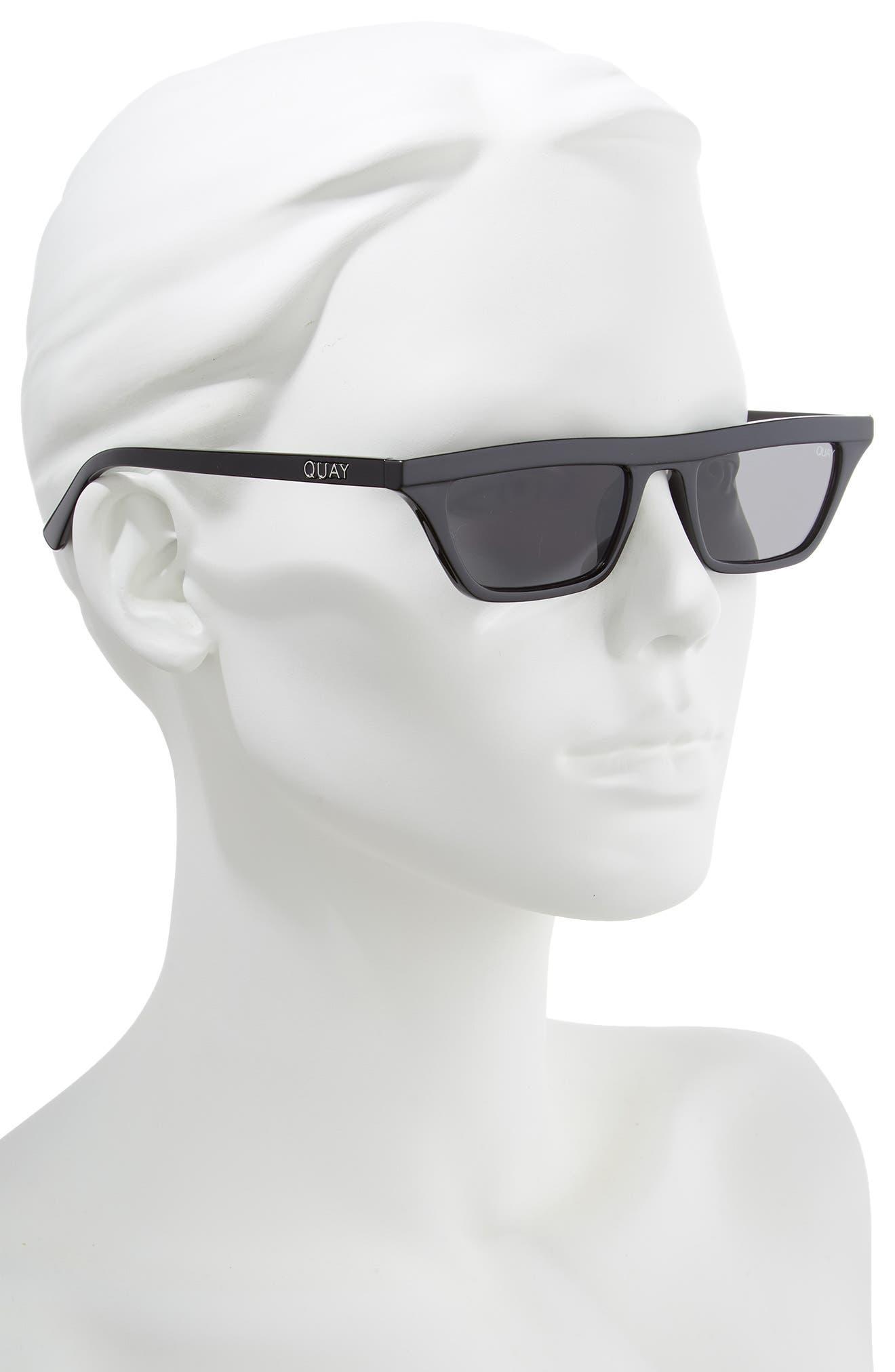 Finesse 52mm Sunglasses,                             Alternate thumbnail 2, color,                             BLACK/ SMOKE